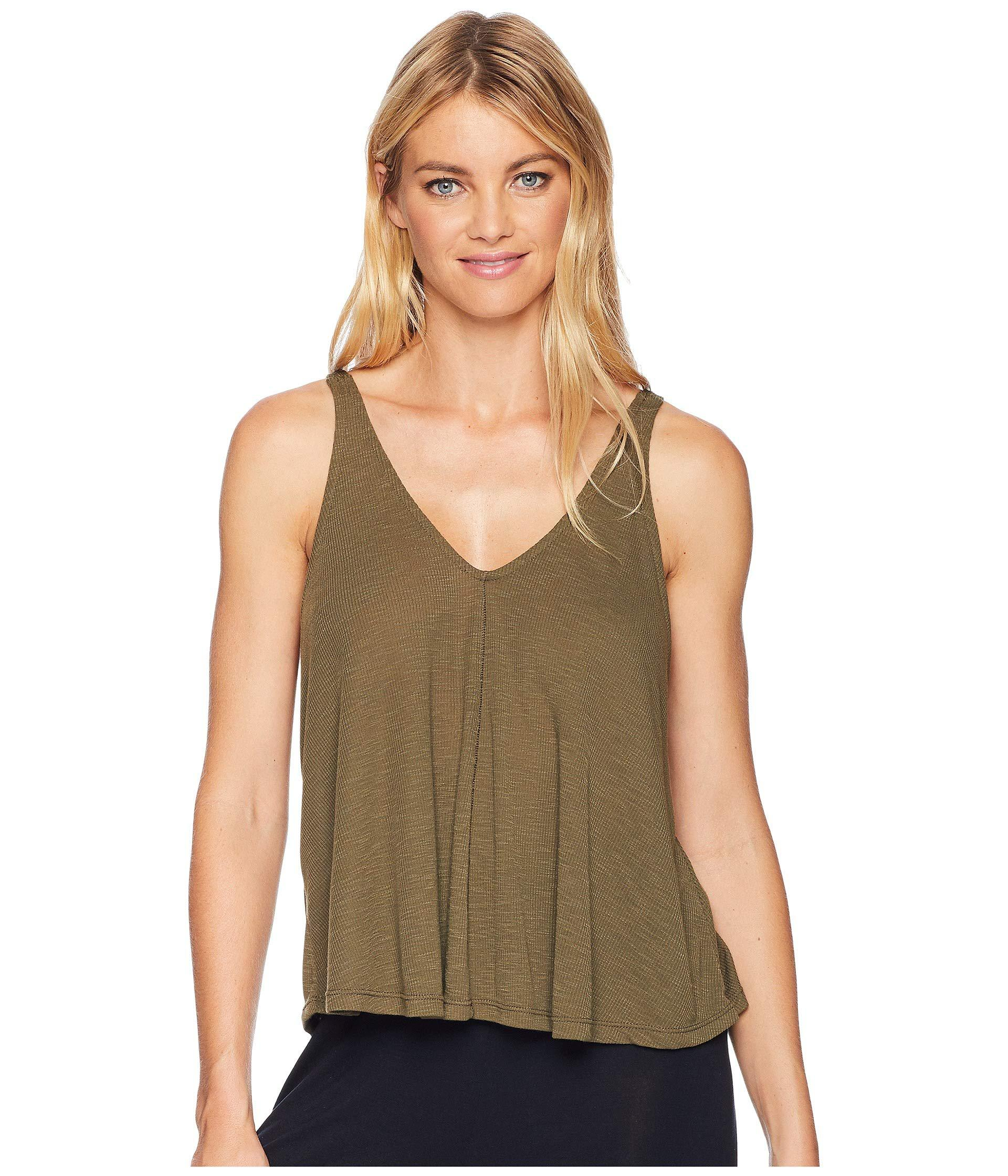 c2ee8510650a1c Lyst - Free People Dani Tank Top (army) Women s Sleeveless in Green