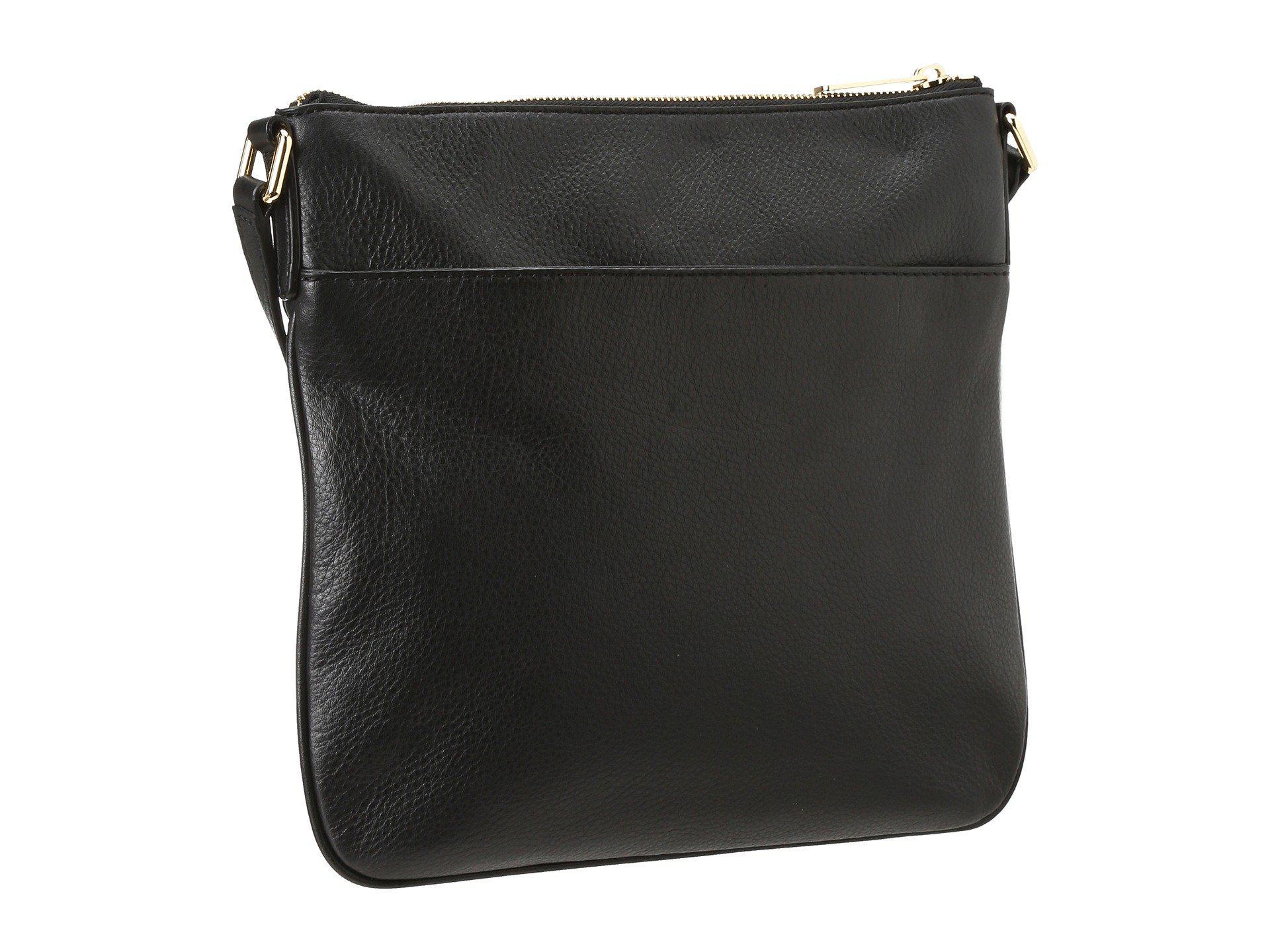 91fc78dac419 MICHAEL Michael Kors - Bedford Flat Crossbody (black) Cross Body Handbags -  Lyst. View fullscreen
