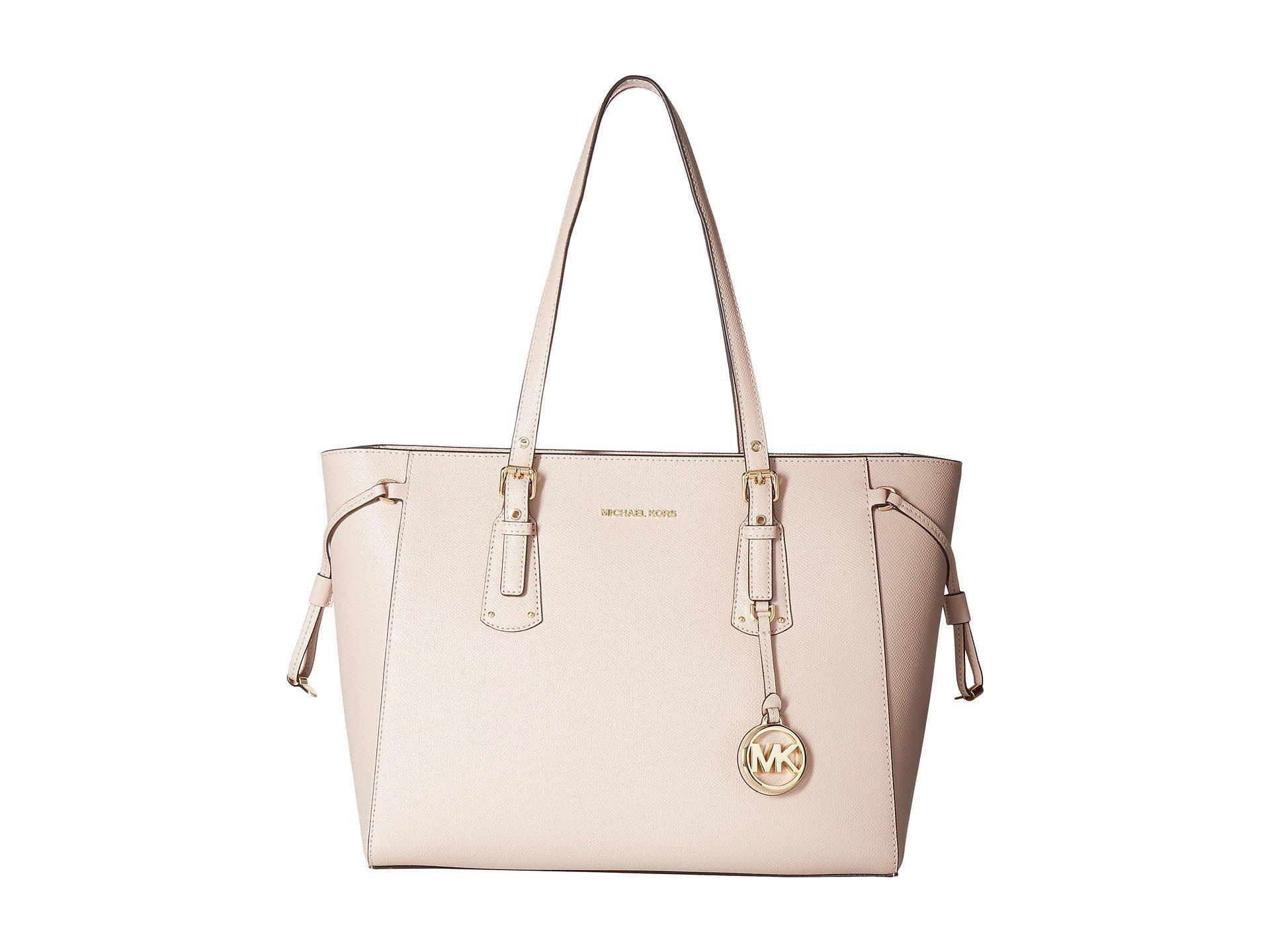 0c2e3ef746cc Lyst - MICHAEL Michael Kors Voyager Medium Tote Bag in Pink - Save 23%