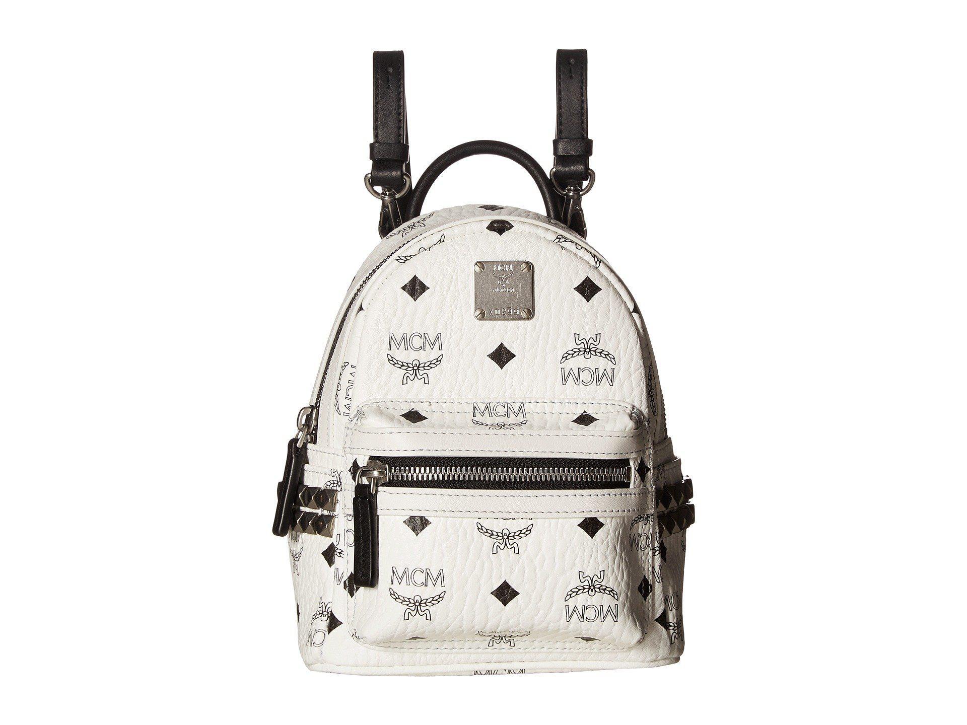 fe9711732956 MCM - Stark Side Stud X-mini Backpack (white) Backpack Bags - Lyst. View  fullscreen