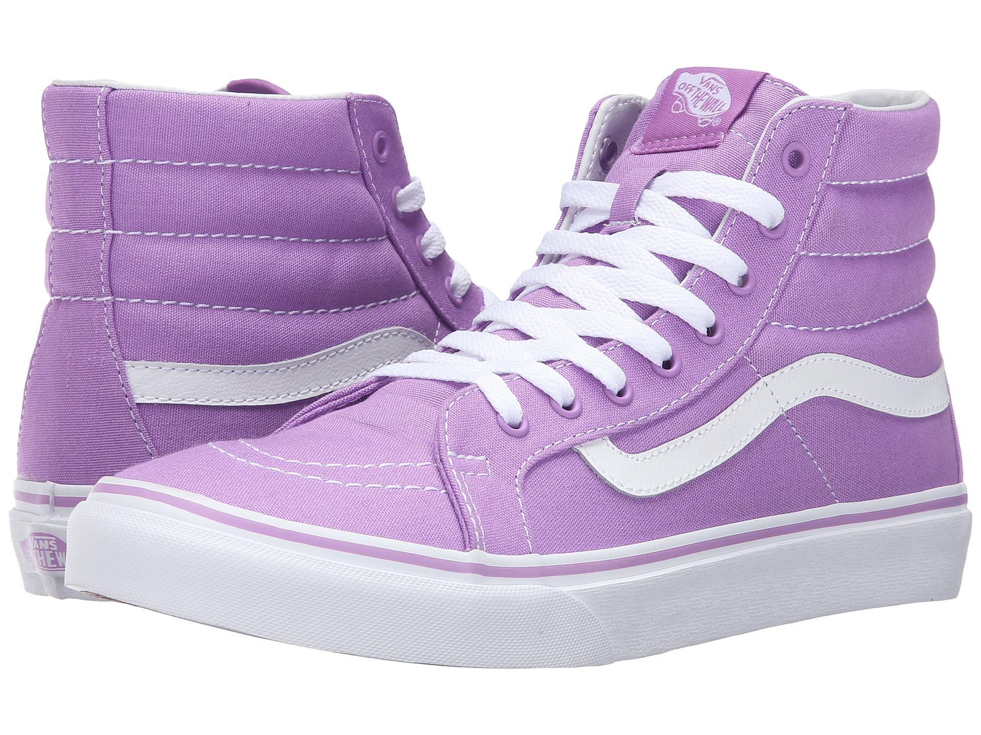 bac3e6779ea92 Lyst - Vans Sk8-hi Slim in Purple