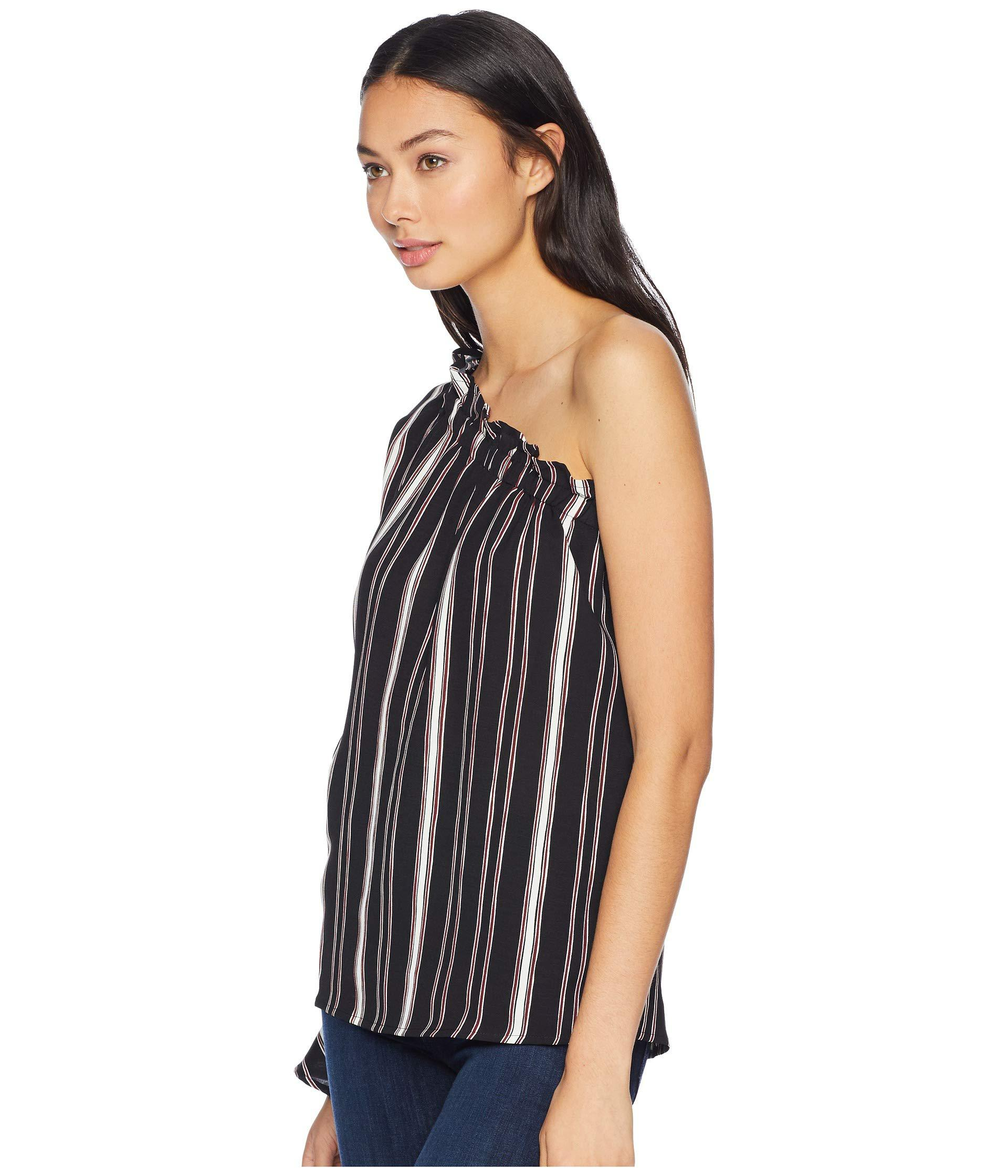 cfea9da00de Lyst - Bishop + Young Stripe One Shoulder Top (navy) Women's Clothing in  Blue - Save 17%