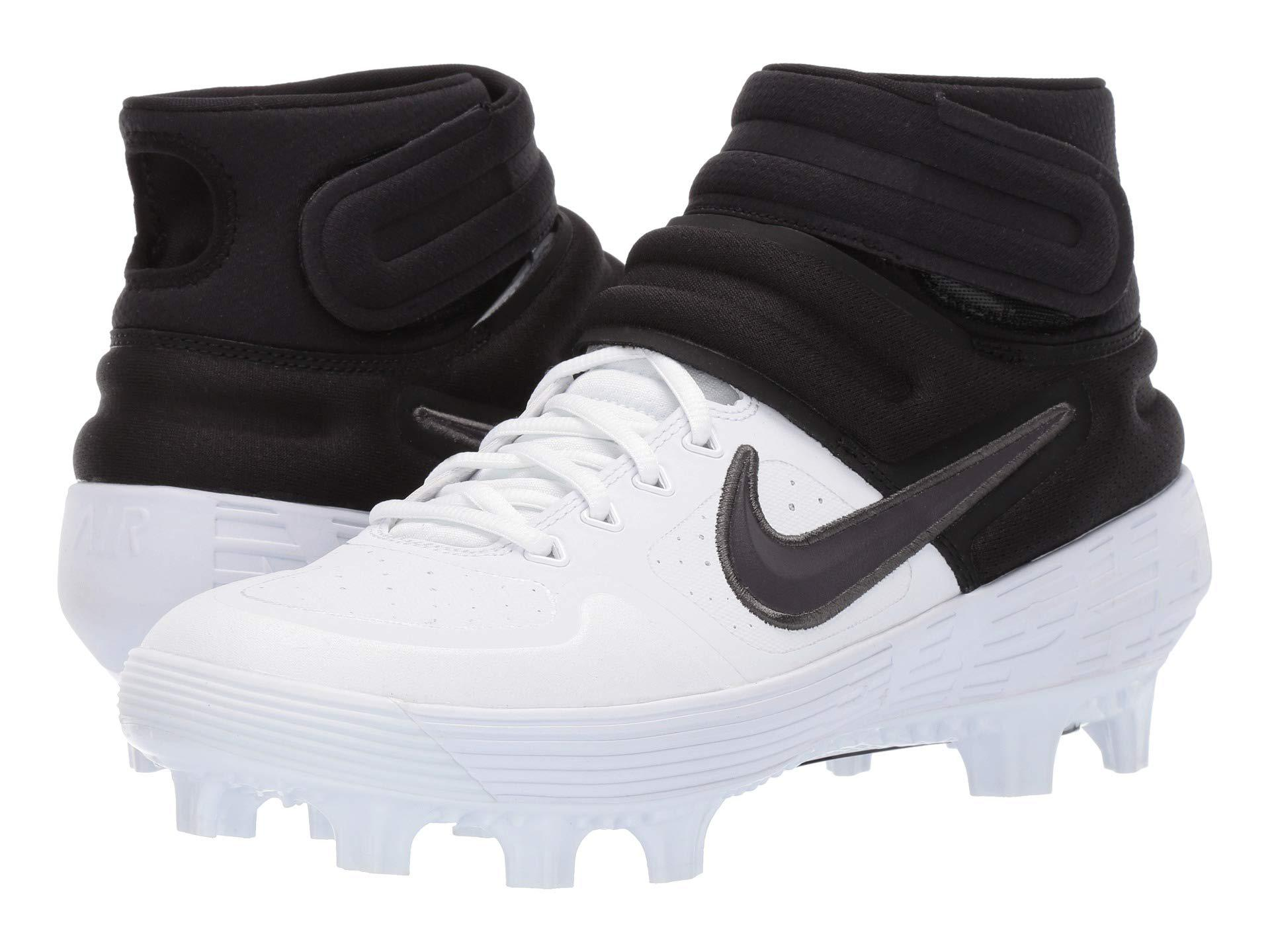 1cd4bb53c37a Nike. Alpha Huarache Elite 2 Mid (white thunder Grey black) Men s Cleated  Shoes