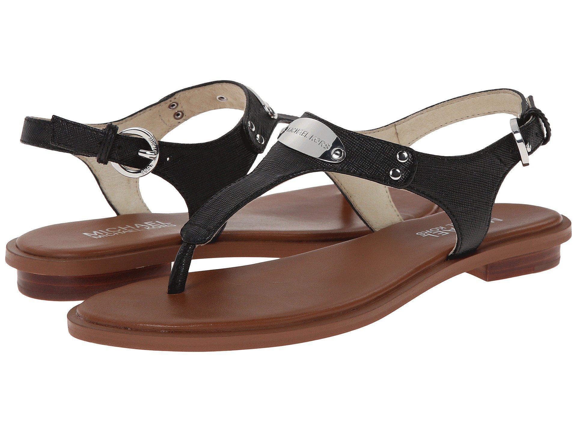 a124b13160b8 Lyst - MICHAEL Michael Kors Mk Plate Thong (Luggage) Women s Sandals ...