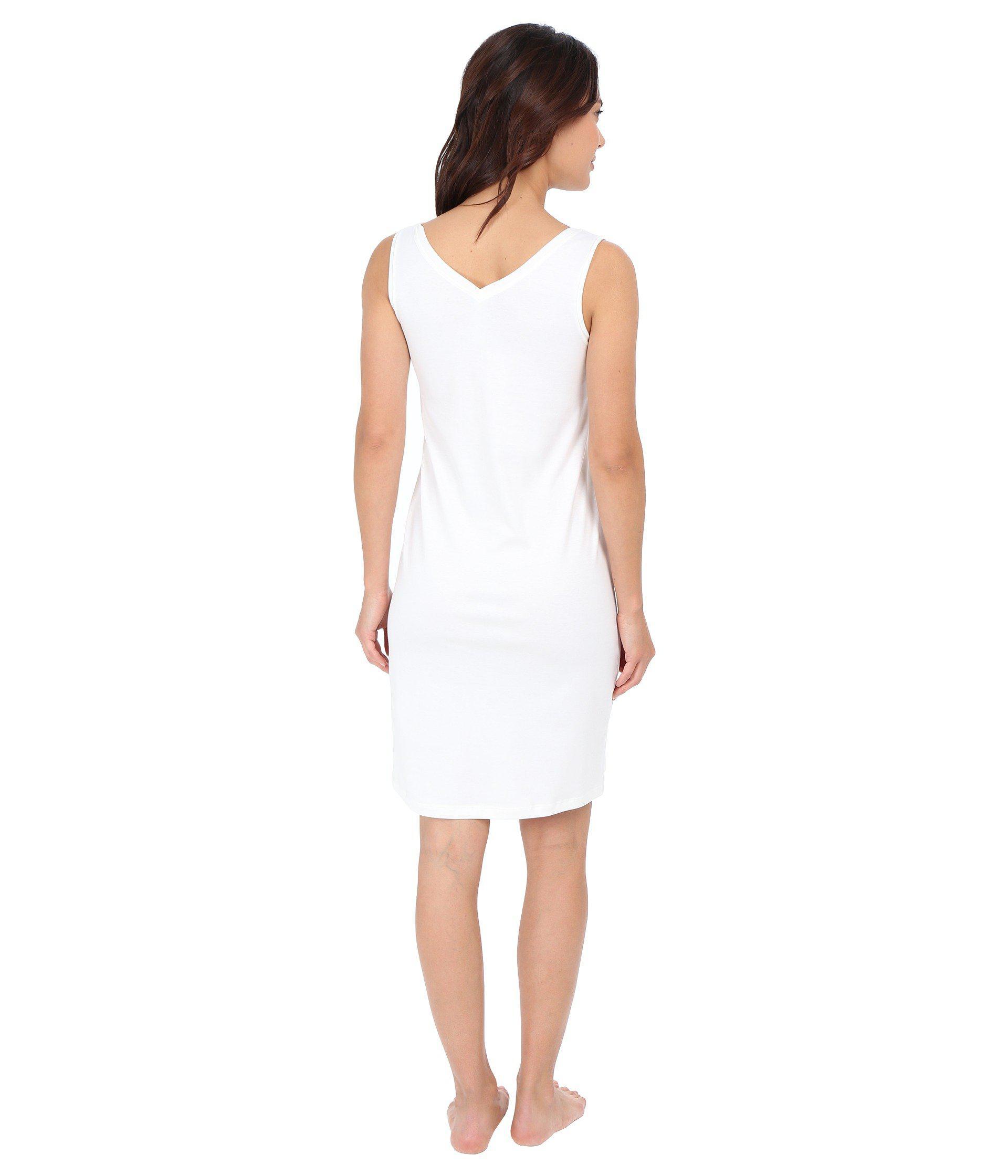 b70d762a74 Hanro - Pure Essence Tank Gown (off-white) Women's Pajama - Lyst. View  fullscreen