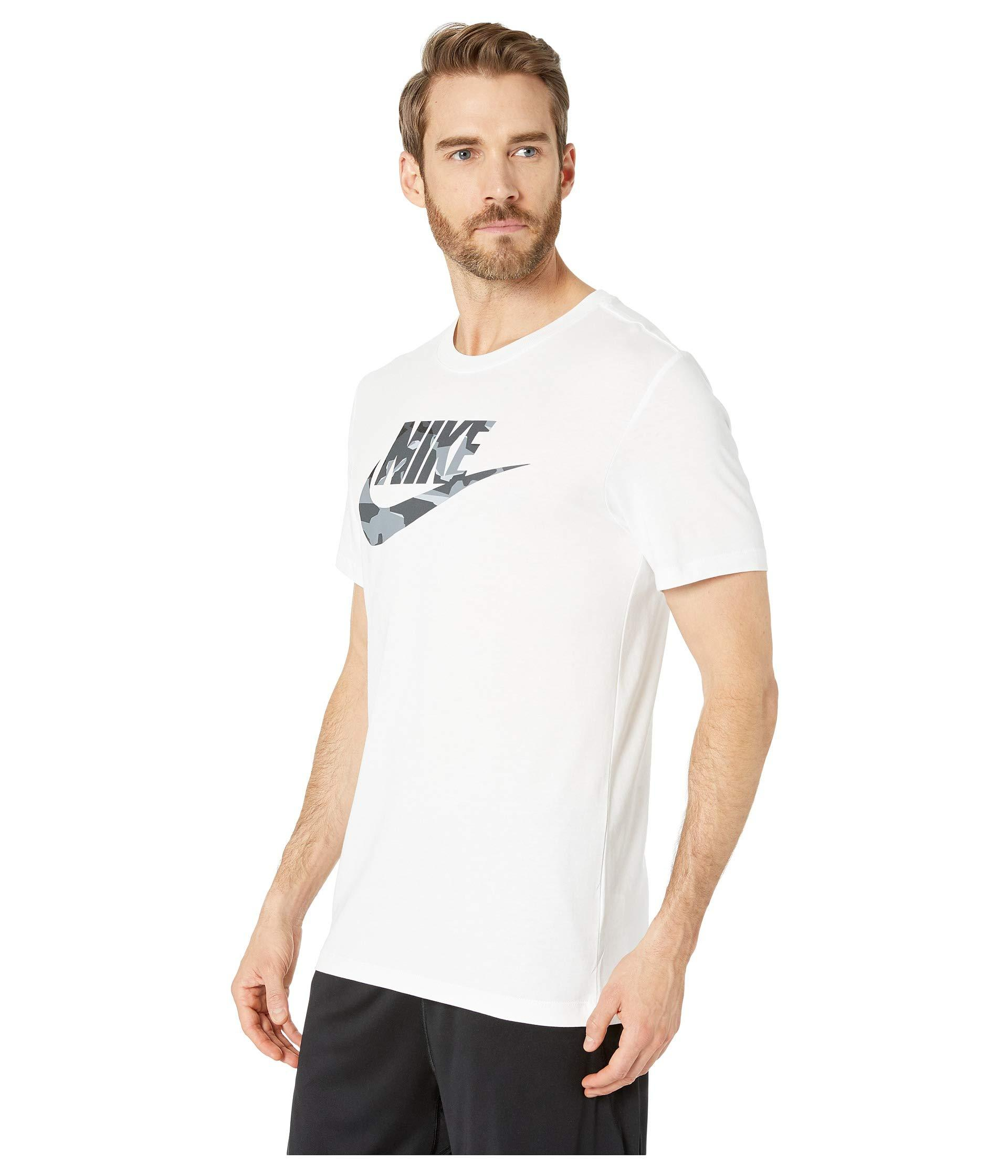 017d33f31 Nike Nsw Camo 1 Tee (dark Grey Heather/spruce Fog) Men's T Shirt in White  for Men - Lyst