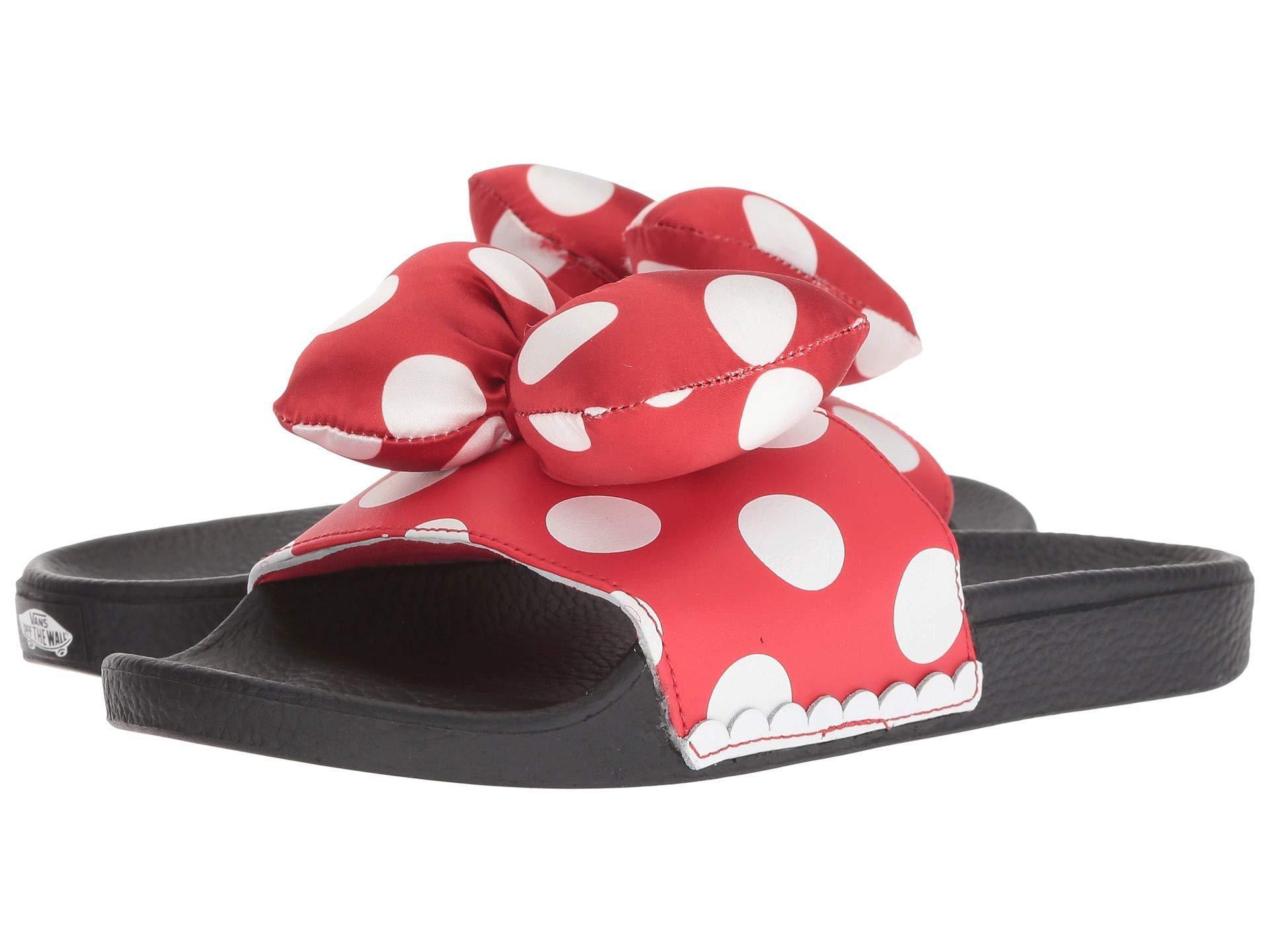 d19f94ffcbd6 Lyst - Vans Mickey s 90th Disney(r) Slide-on ((disney) Minnie s Bow ...