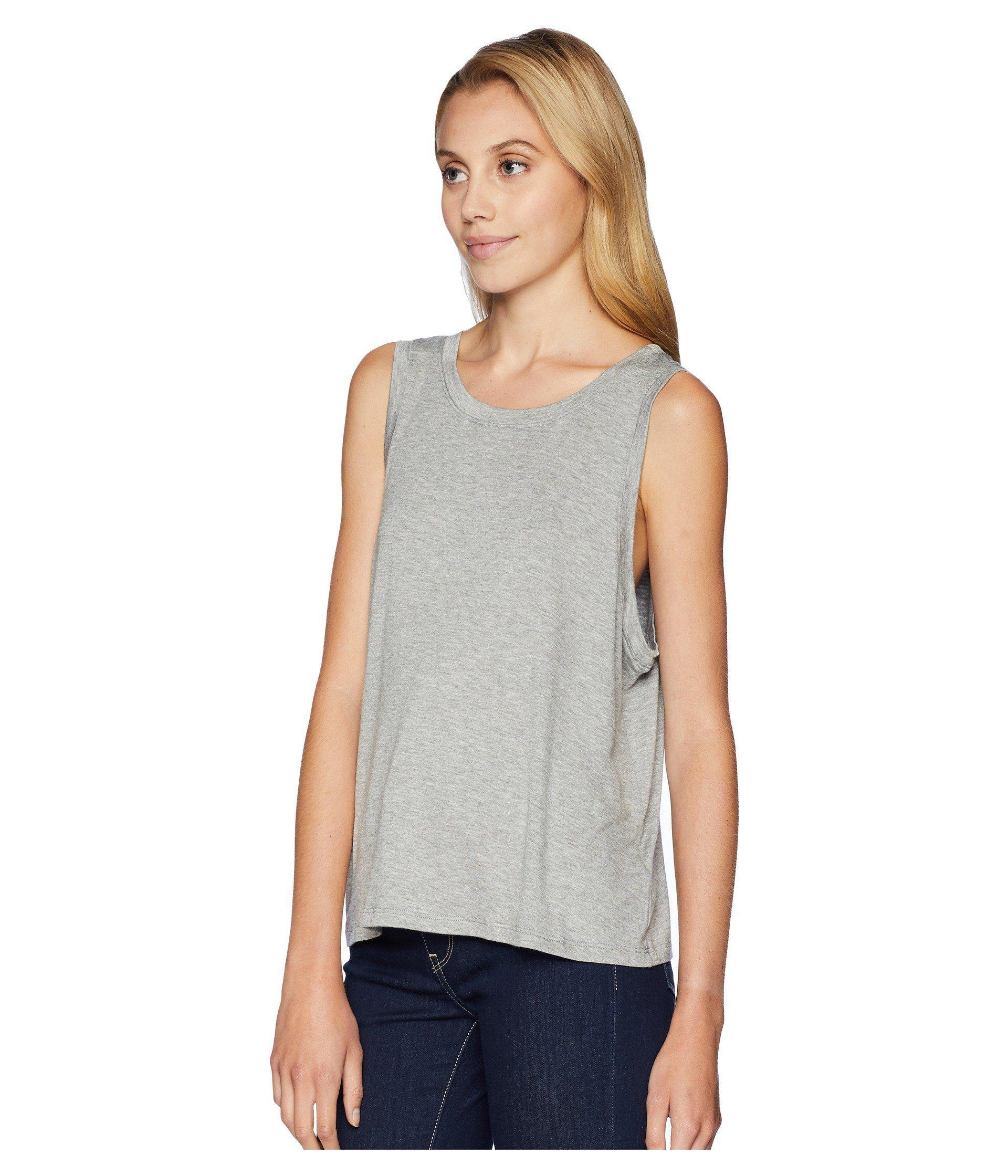 5ac0b3d63 Lyst - Beyond Yoga Balanced Muscle Tank Top (white) Women's Sleeveless in  Gray