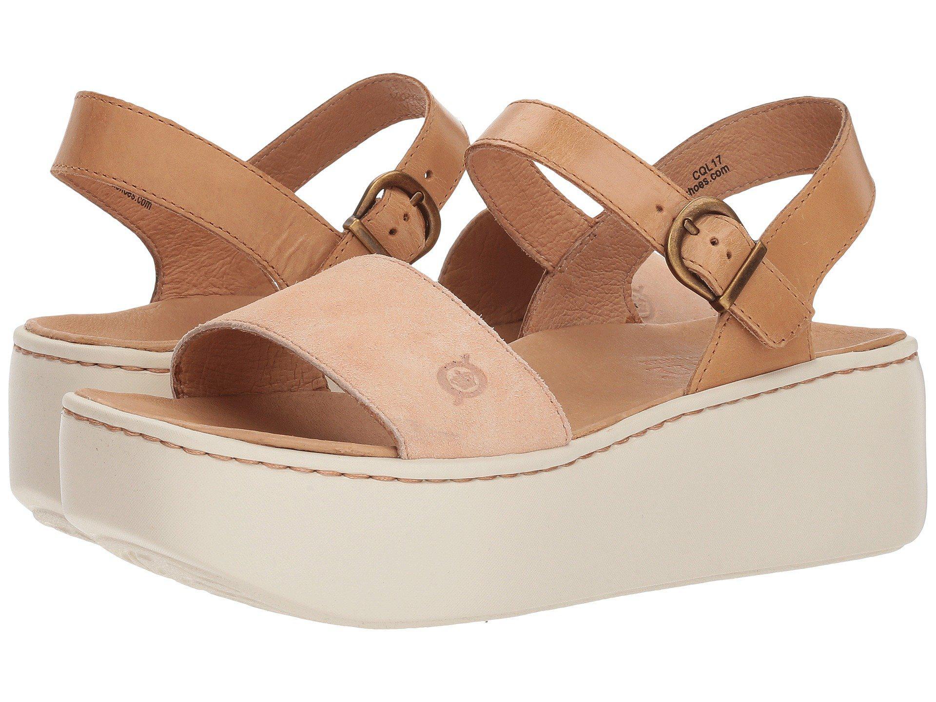 e9a13a4caa40 Lyst - Born Breaker (orange tan Combo) Women s Wedge Shoes