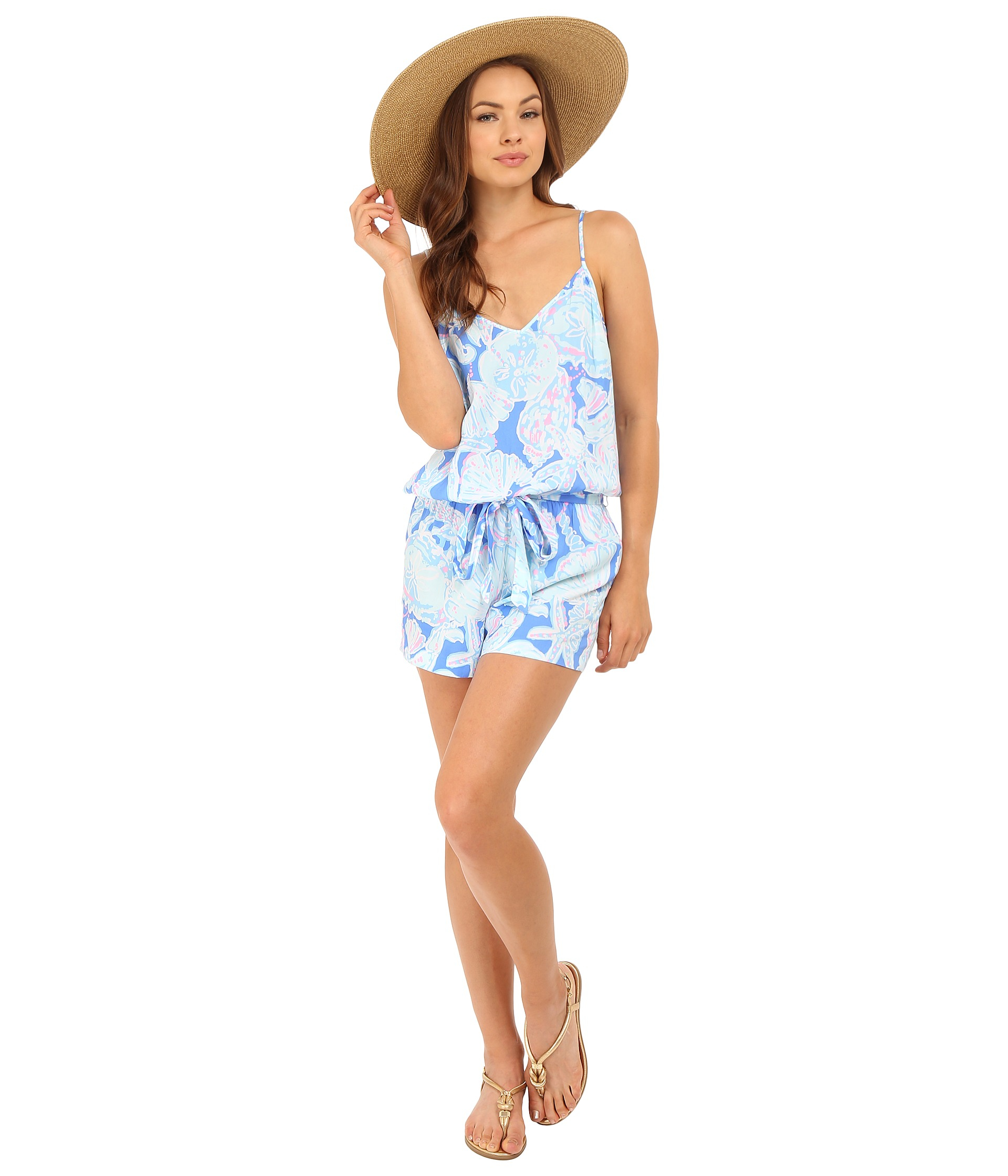 ec7cb7399471 Lyst - Lilly Pulitzer Deanna Romper in Blue