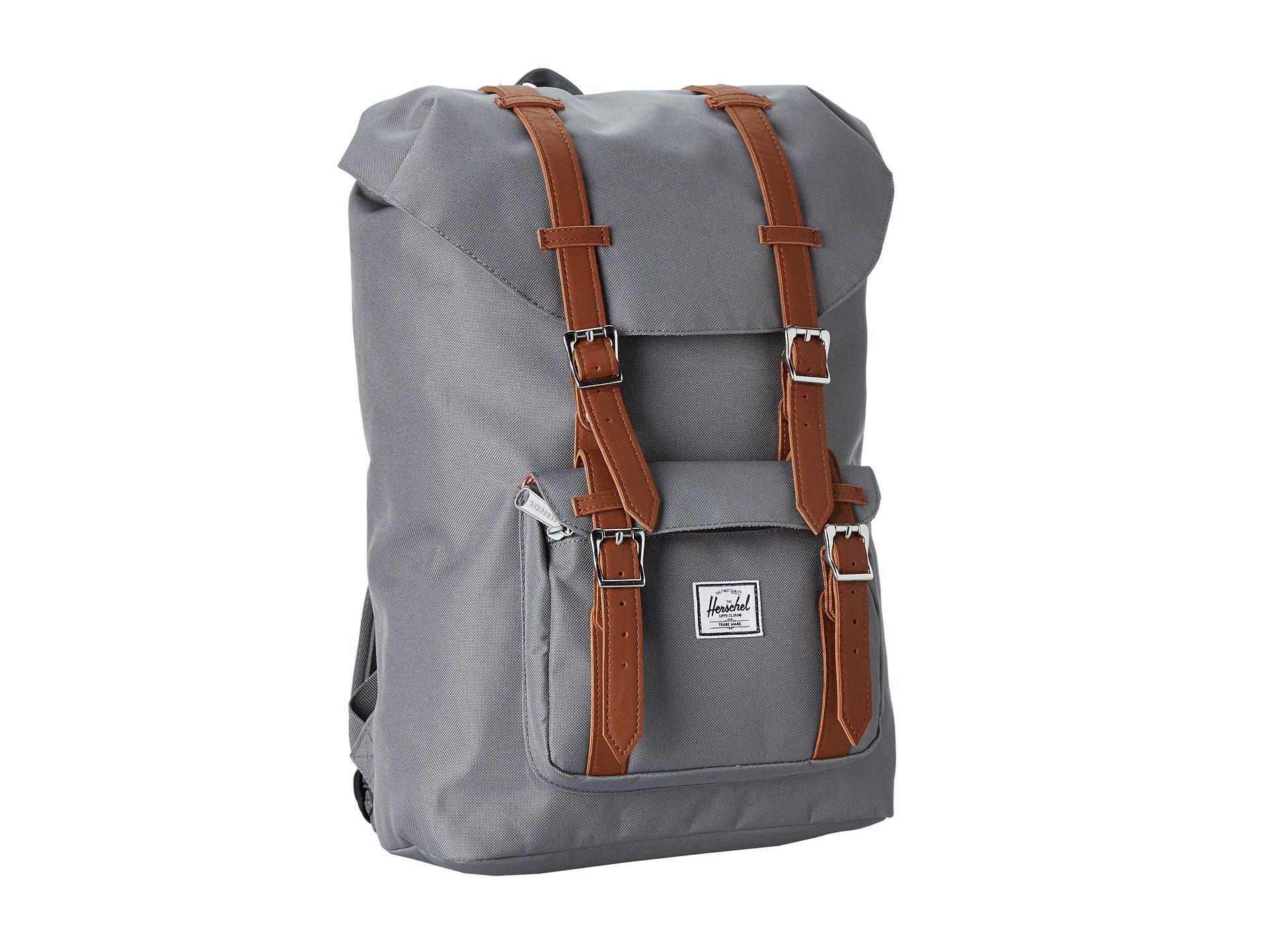 cb9ed820a0 Lyst - Herschel Supply Co. Little America Mid-volume (grey) Backpack ...