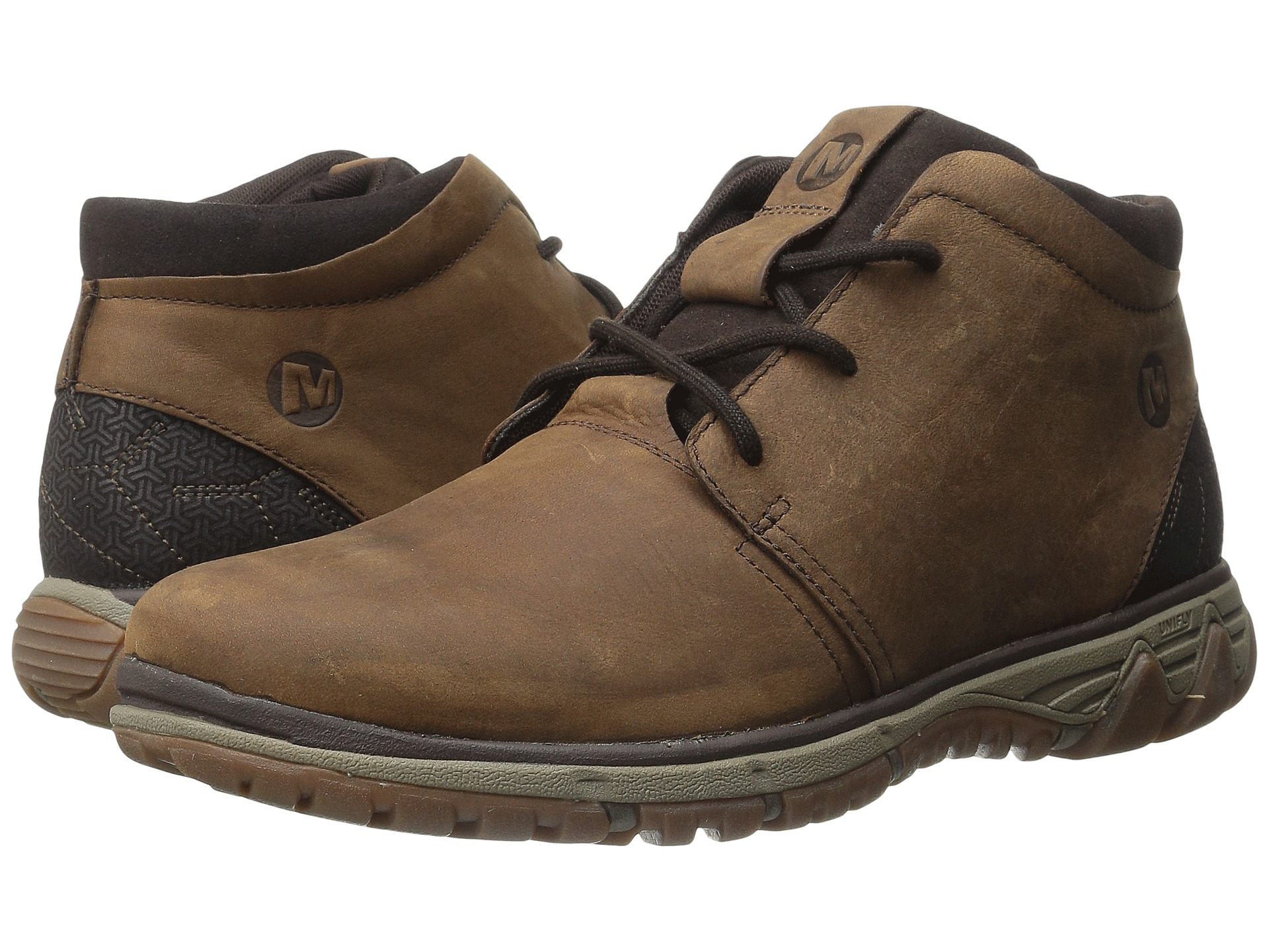 merrell all out waxy lea chukka boots in brown for lyst