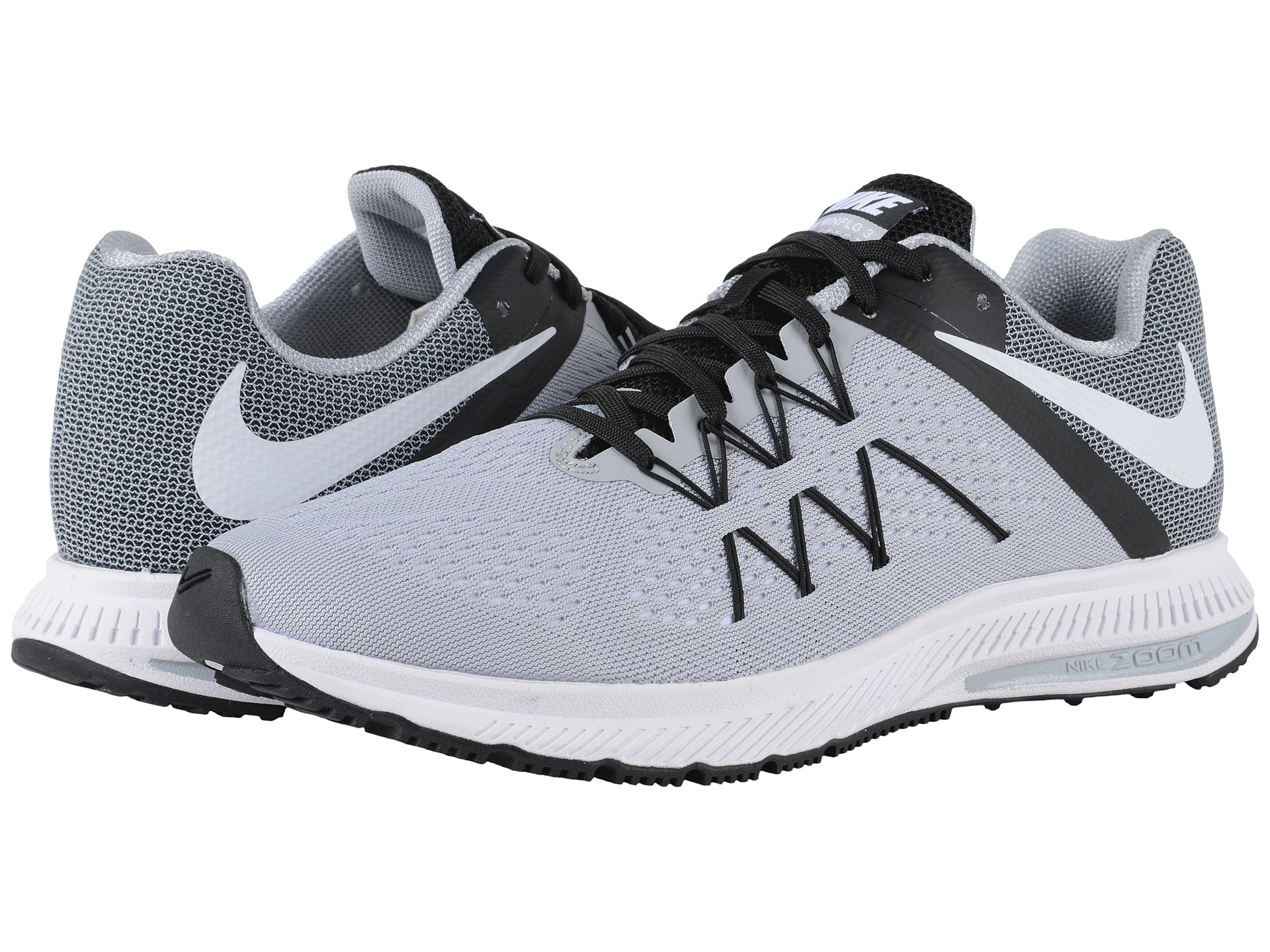 finest selection 66255 a8917 best price lyst nike zoom winflo 3 in gray for men d7228 d05d2