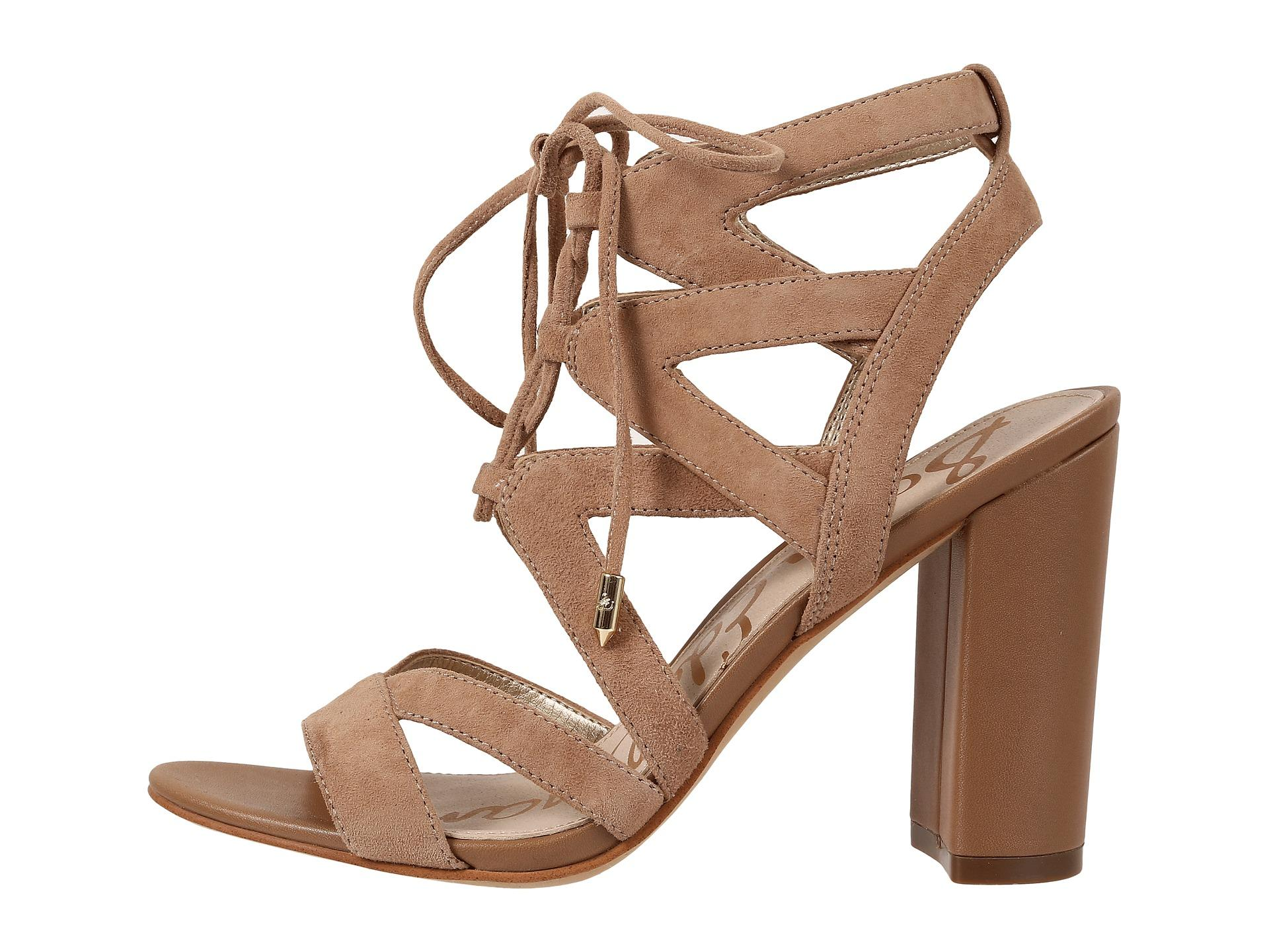 Sam Edelman Yardley Cut Out Suede Sandals In Natural Lyst