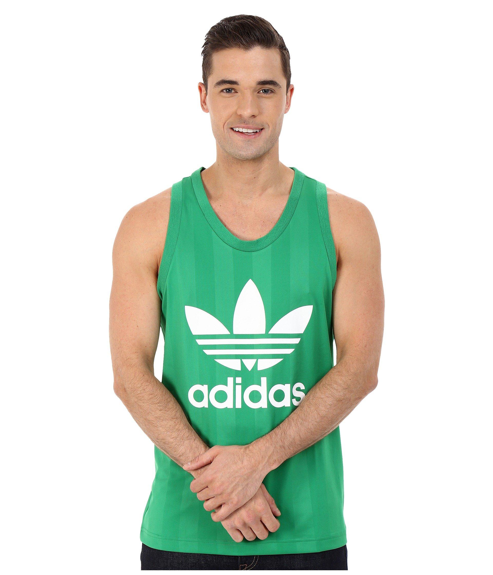 af67474ae56e0 Lyst - adidas Originals Trefoil Tank Top in Green for Men