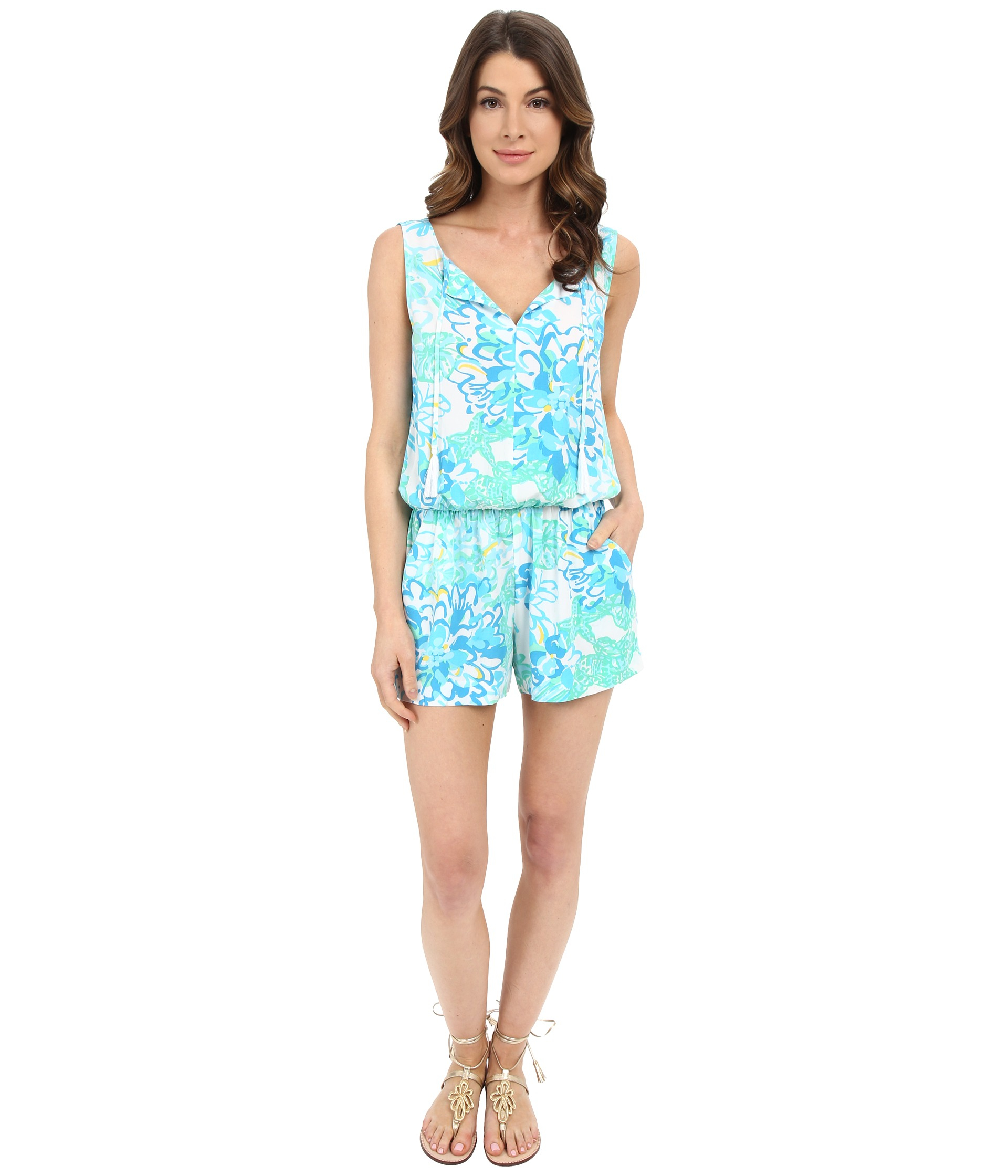 3051dc65dfd Lyst - Lilly Pulitzer Tybee Romper in Green