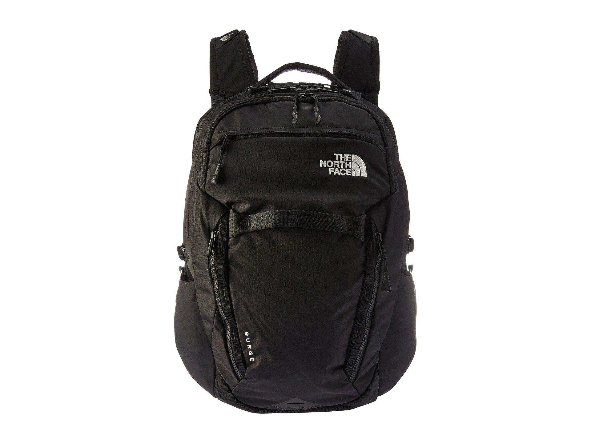 27c688b0b3a2 Lyst - The North Face Women s Surge Backpack (kokomo Green Ripstop ...