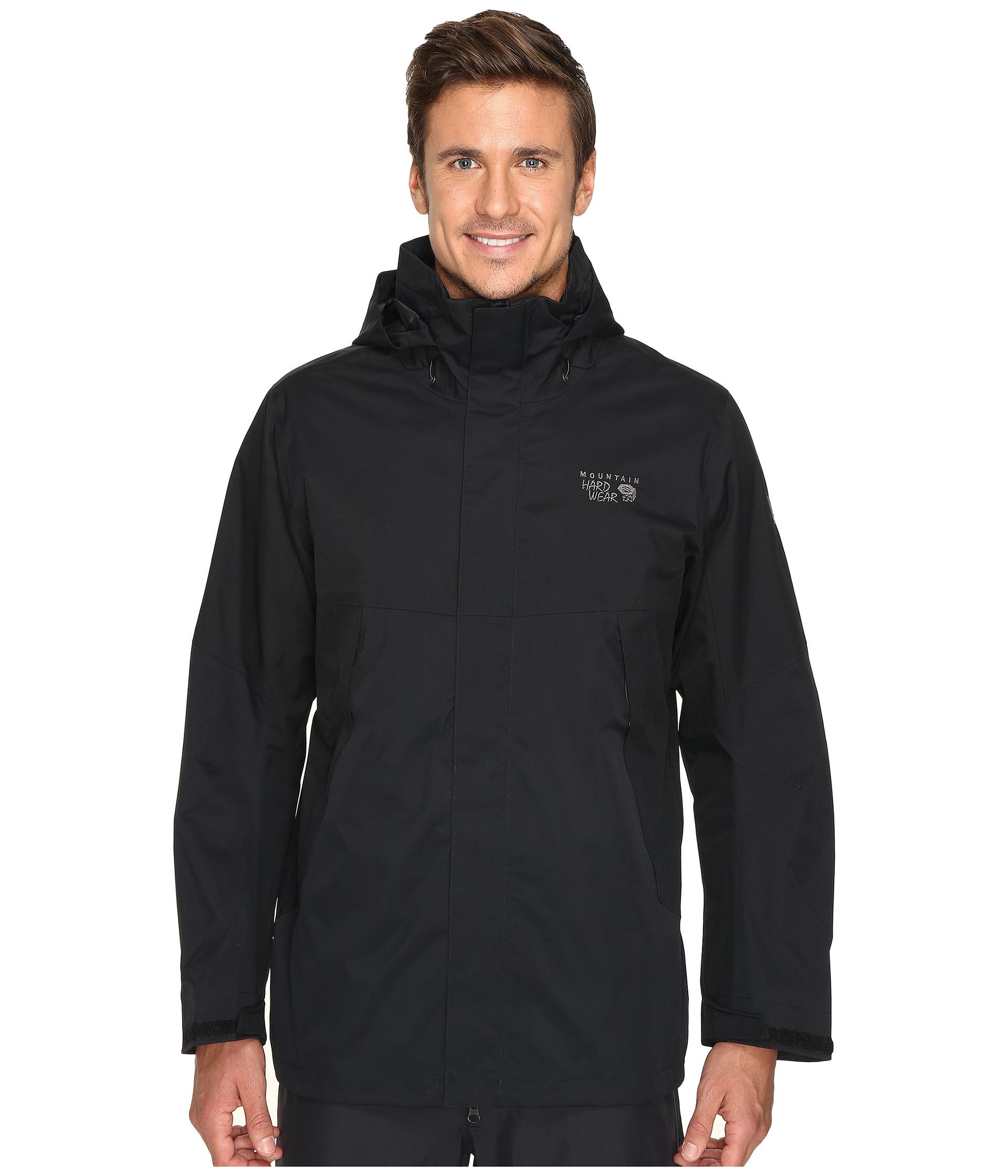 mountain hardwear exposure parka in black for men lyst