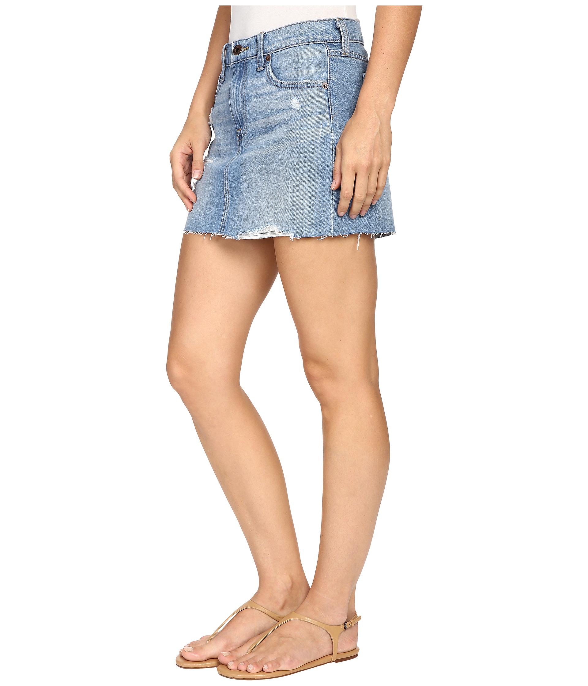 lucky brand classic denim mini skirt in blue lyst