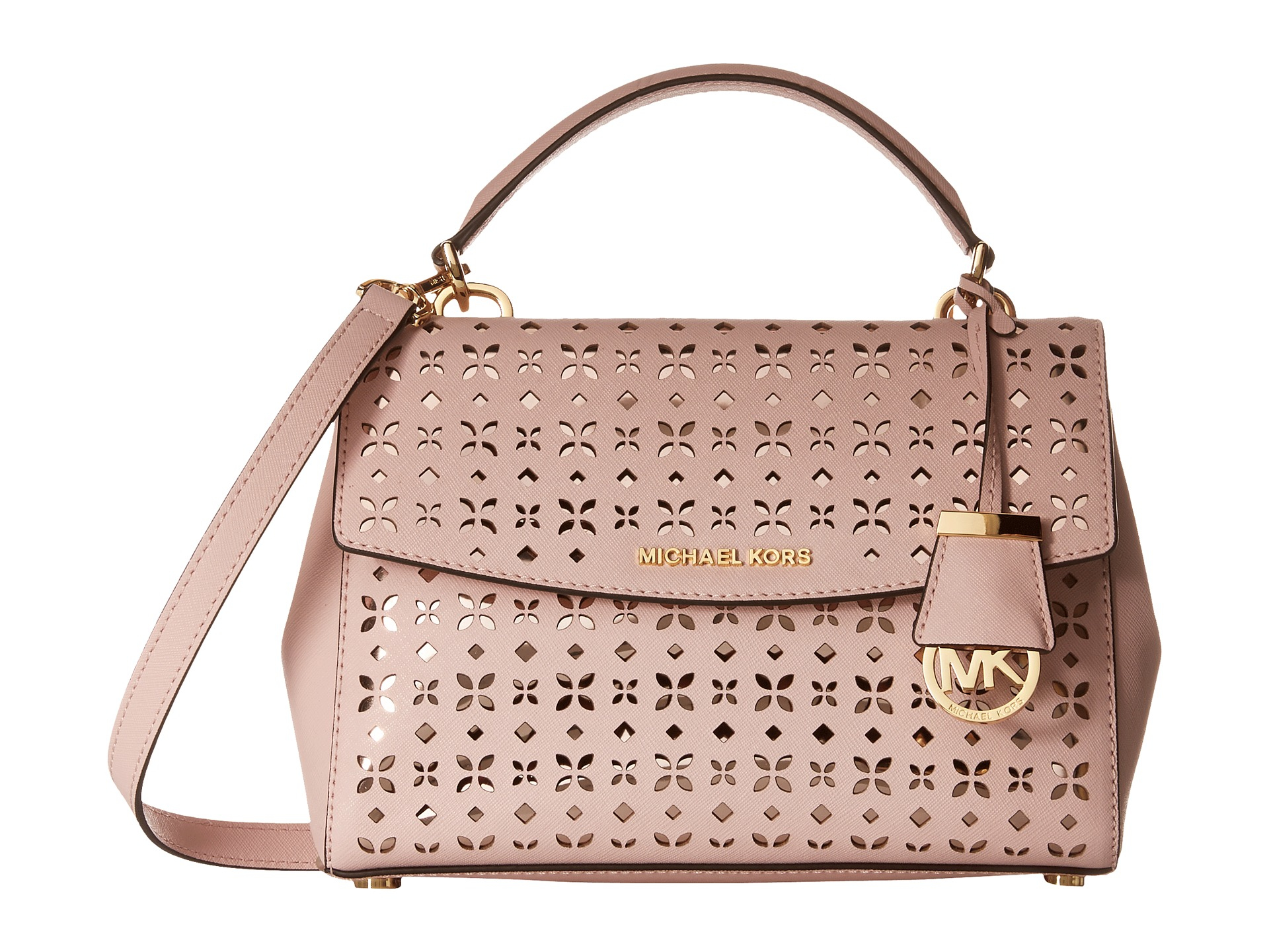 ad7cadebc25b Lyst - MICHAEL Michael Kors Ava Small Top-handle Satchel in Pink