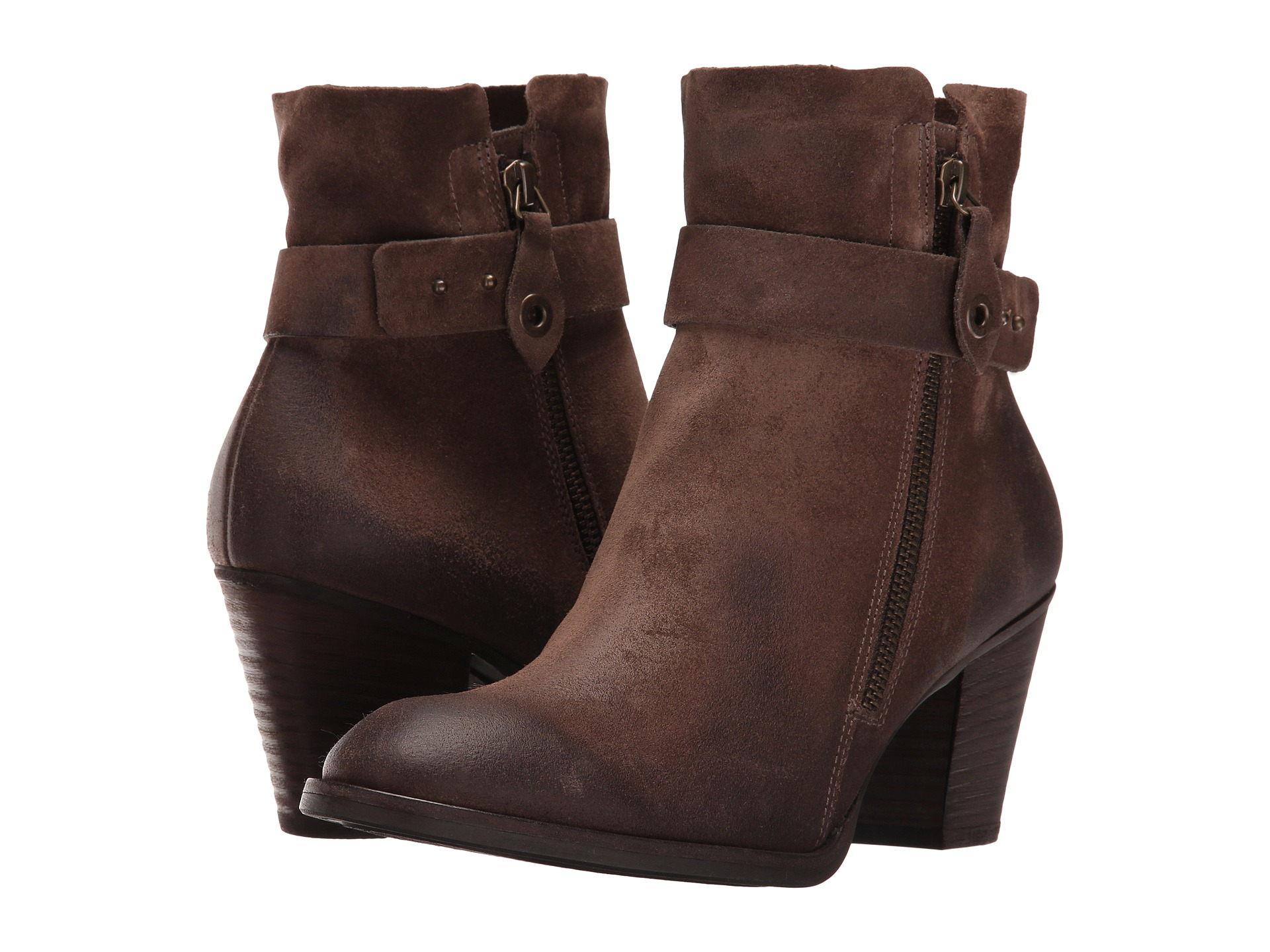 lyst paul green dallas leather ankle boots in brown. Black Bedroom Furniture Sets. Home Design Ideas