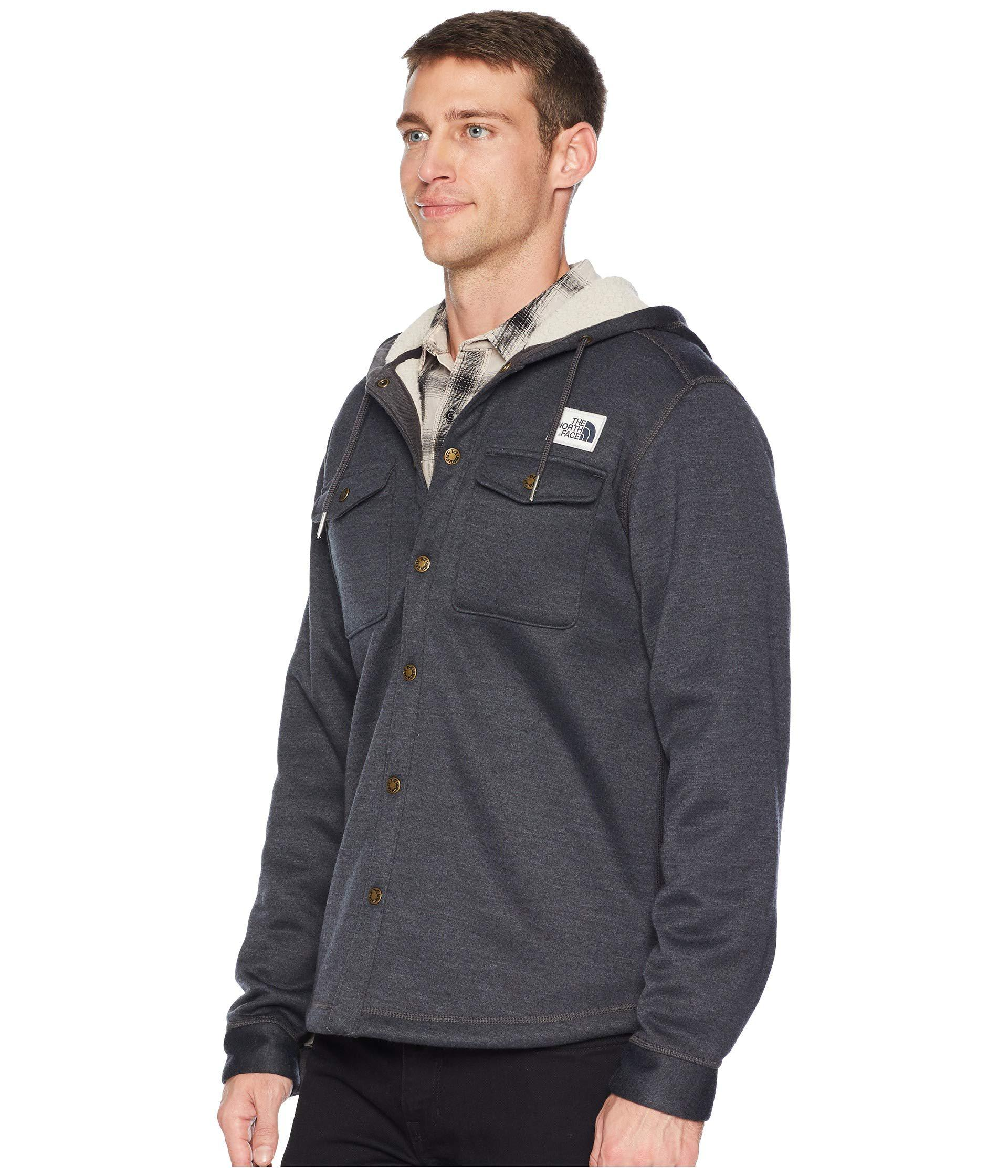 c5b400bb435 Lyst - The North Face Sherpa Patrol Snap-up Hoodie (shady Blue Heather) Men s  Sweatshirt in Blue for Men