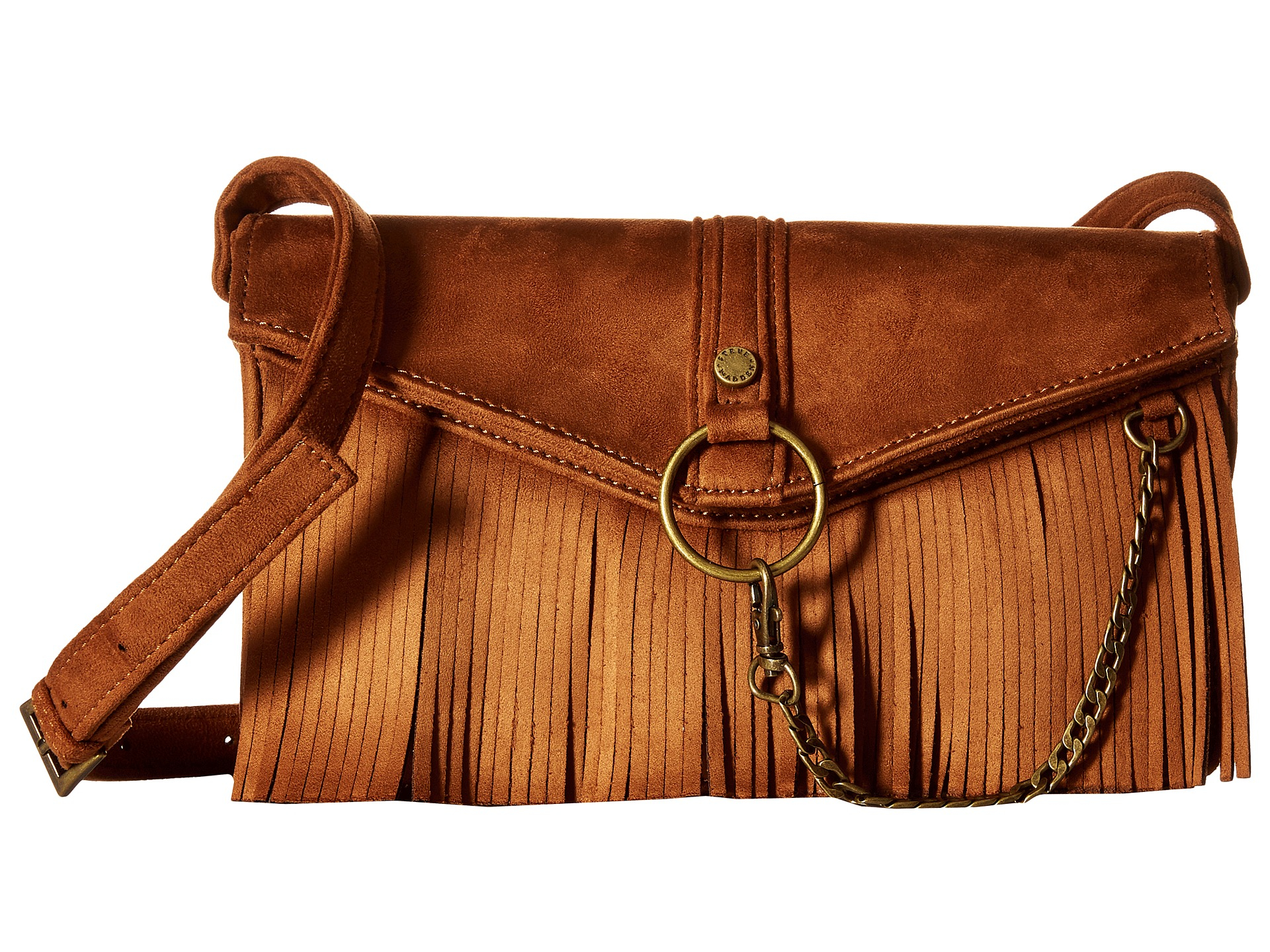 3bb8a9bf1 Steve Madden Bmocha Crossbody Fringe Purse In Black - New image Of Purse