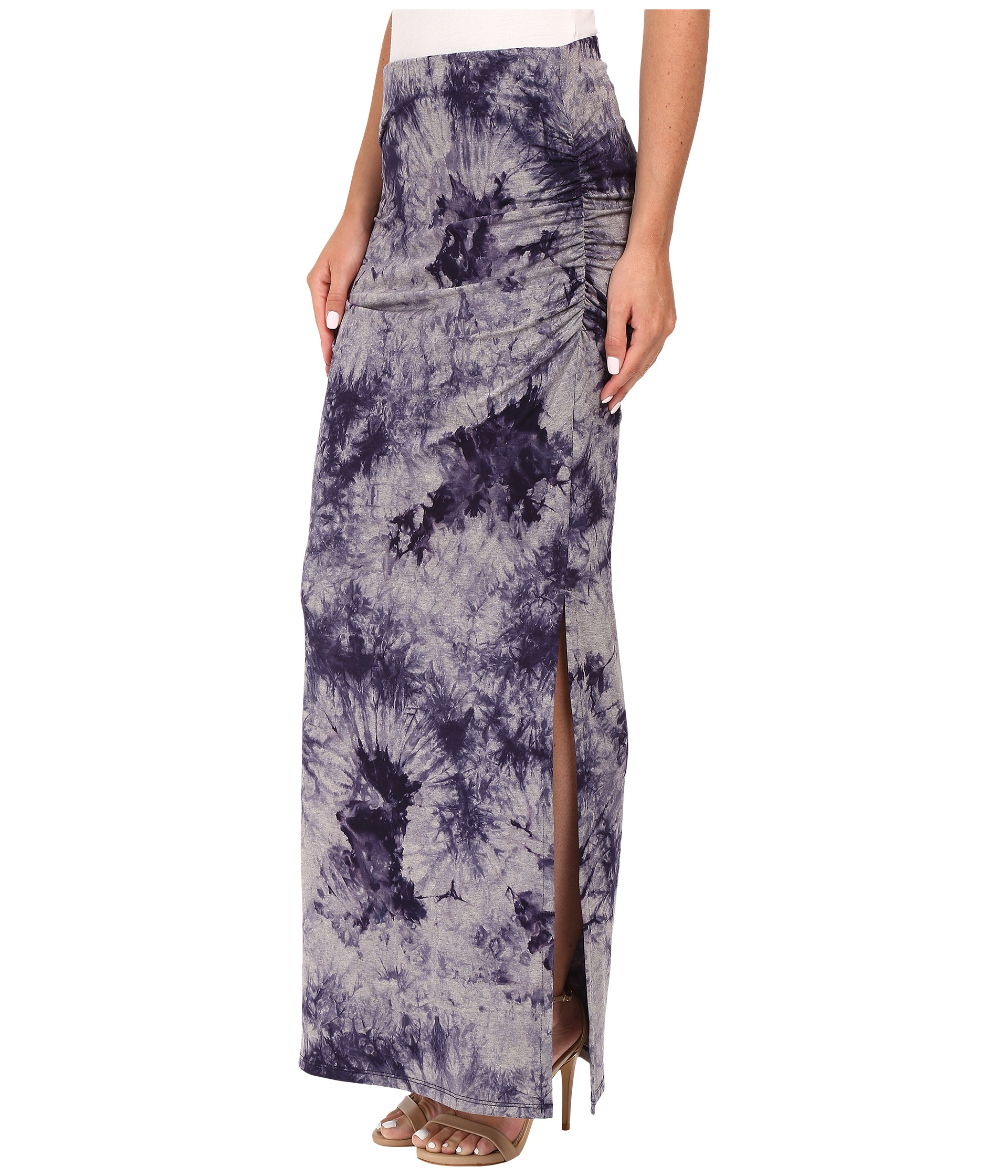 three dots lea shired maxi skirt w side lyst
