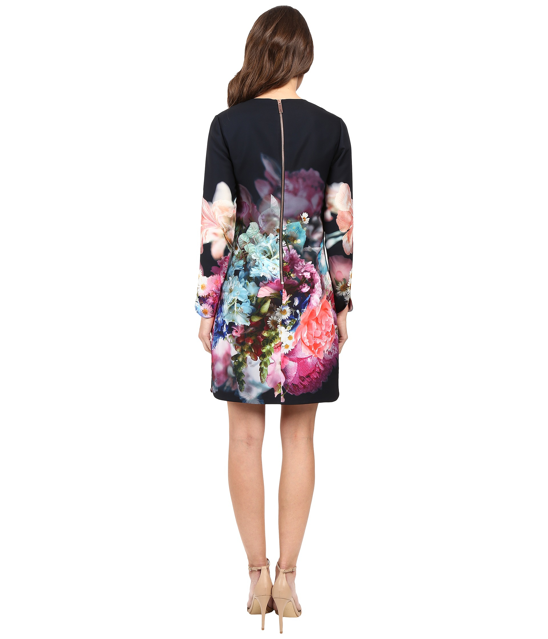 d961e234b84 Ted Baker Vyr Tunic Dress In Focus Bouquet Print in Blue - Lyst