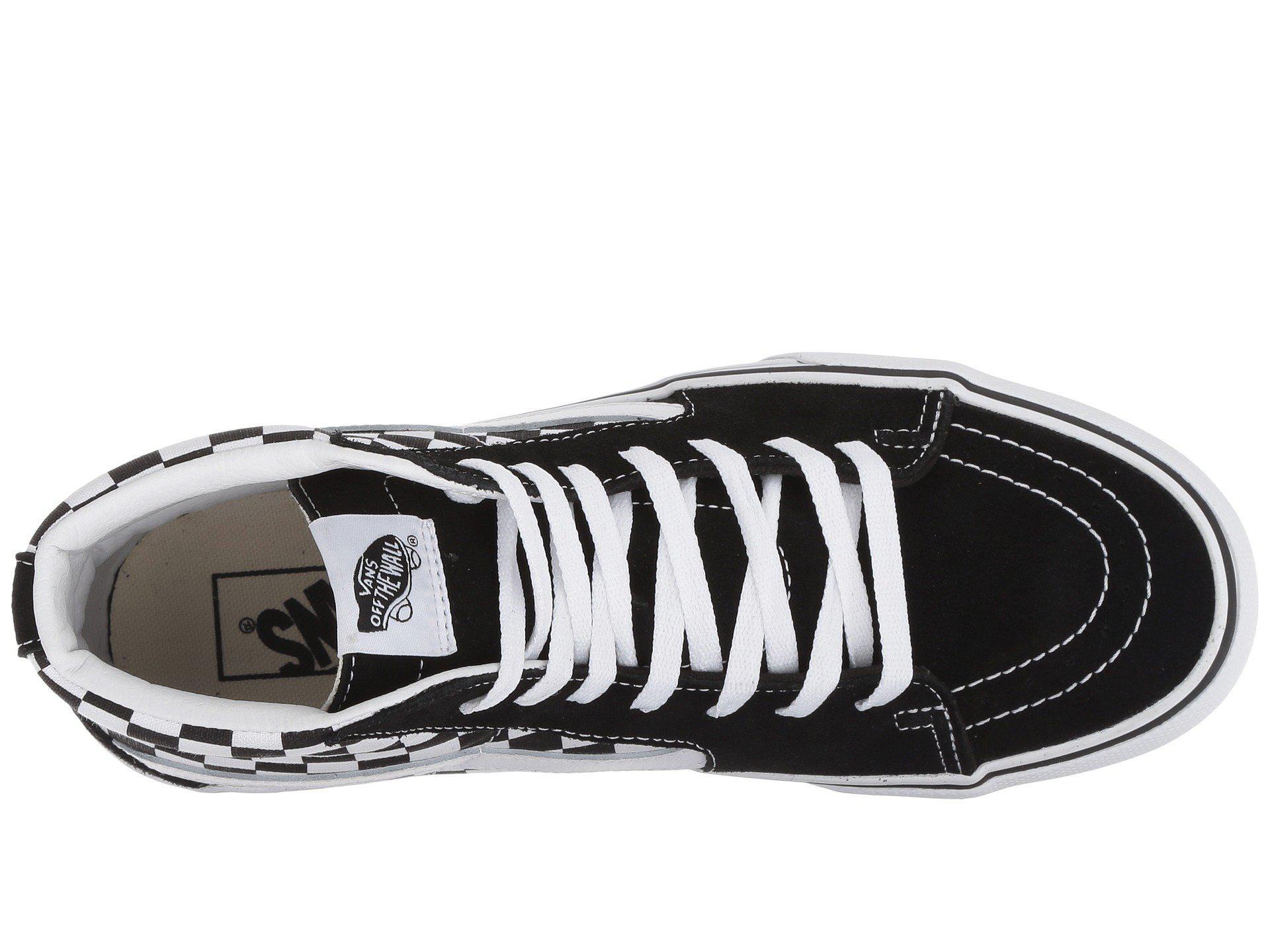5f3b694dfcbc72 Vans - Multicolor Sk8-hi Platform 2.0 (checkerboard true White) Skate Shoes.  View fullscreen