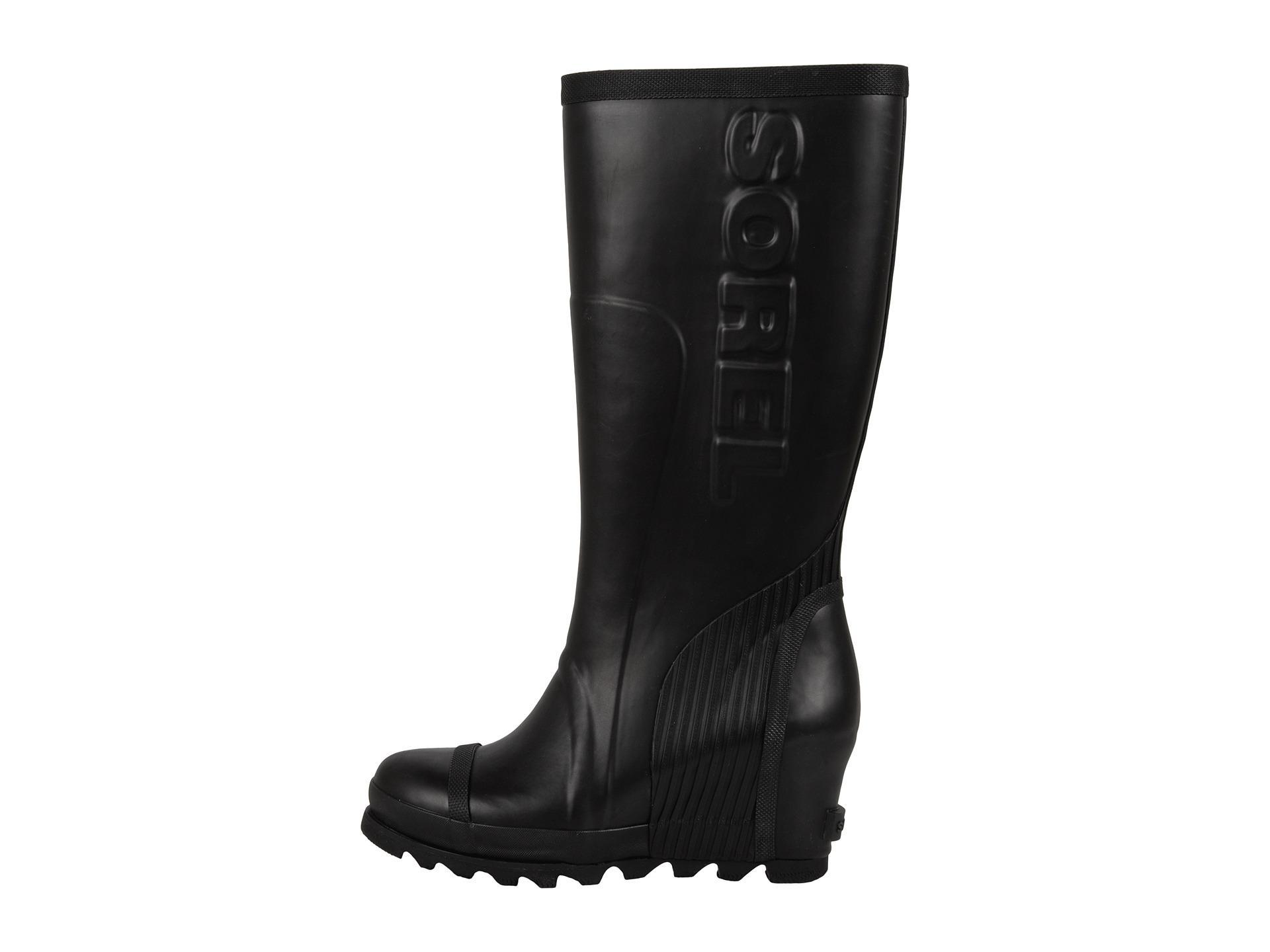 Sorel Joan Rain Waterproof Rubber Wedge Boots
