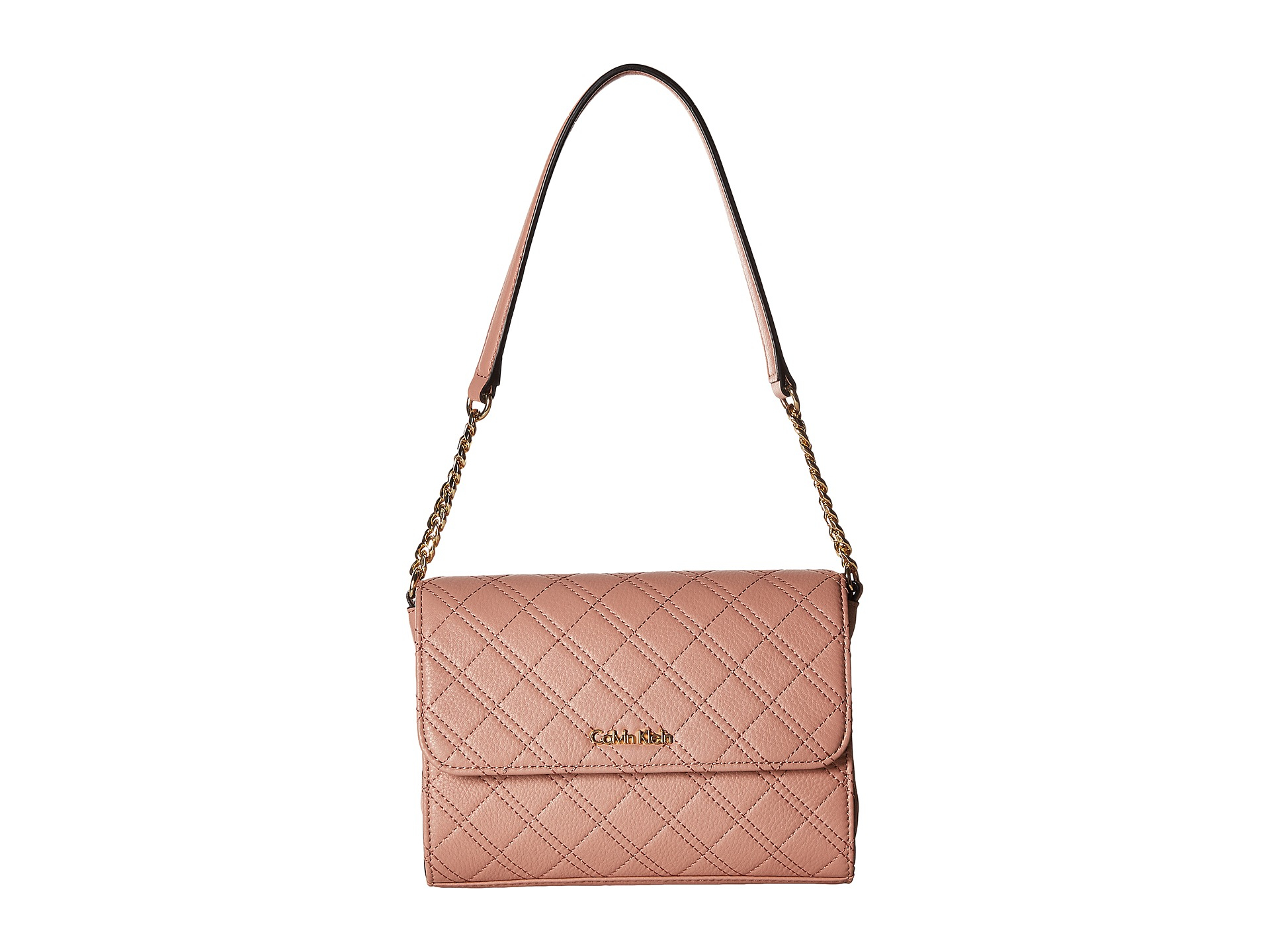 9a1819a1877 Lyst - Calvin Klein Permanent Quilted Pebble Shoulder Bag