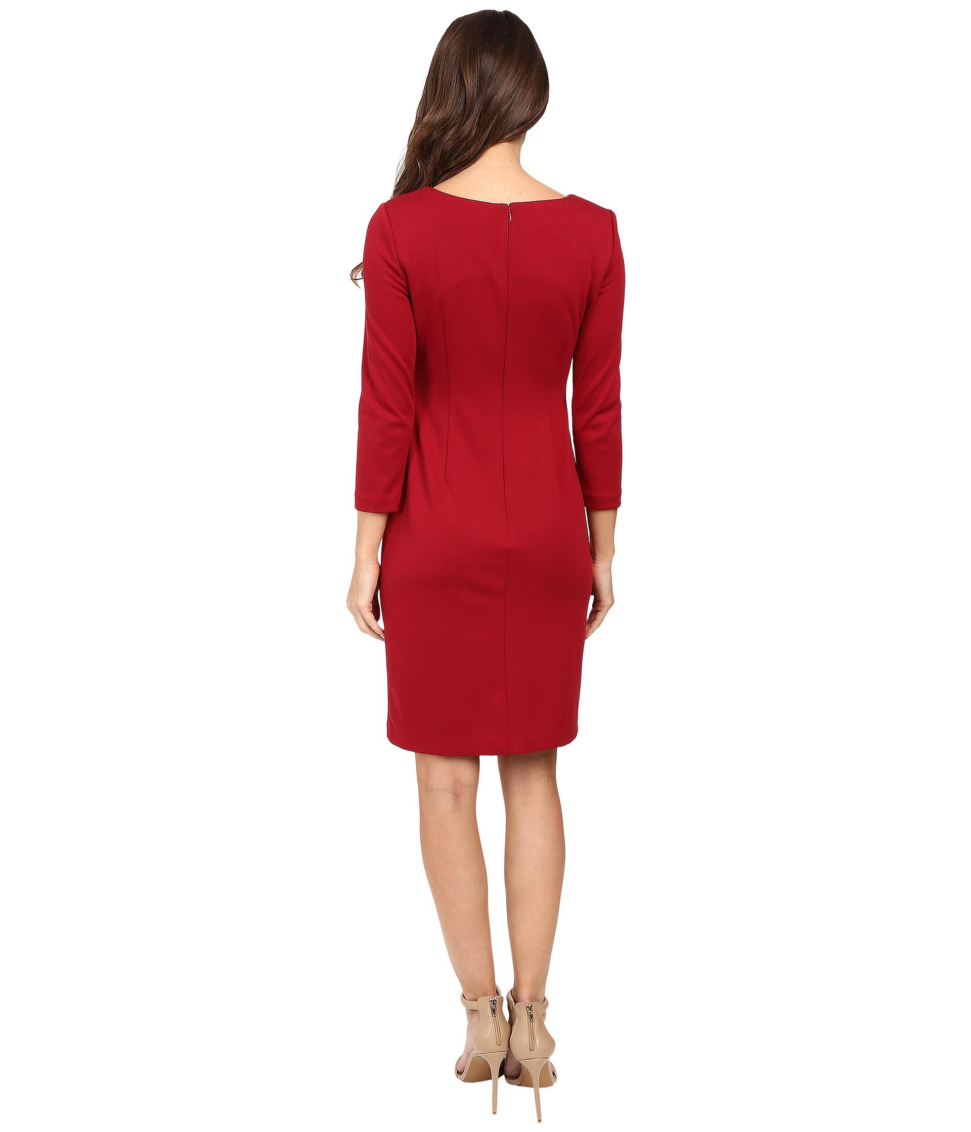 Lyst - Ivanka Trump Long Sleeve Ponte Dress With Side Zipper