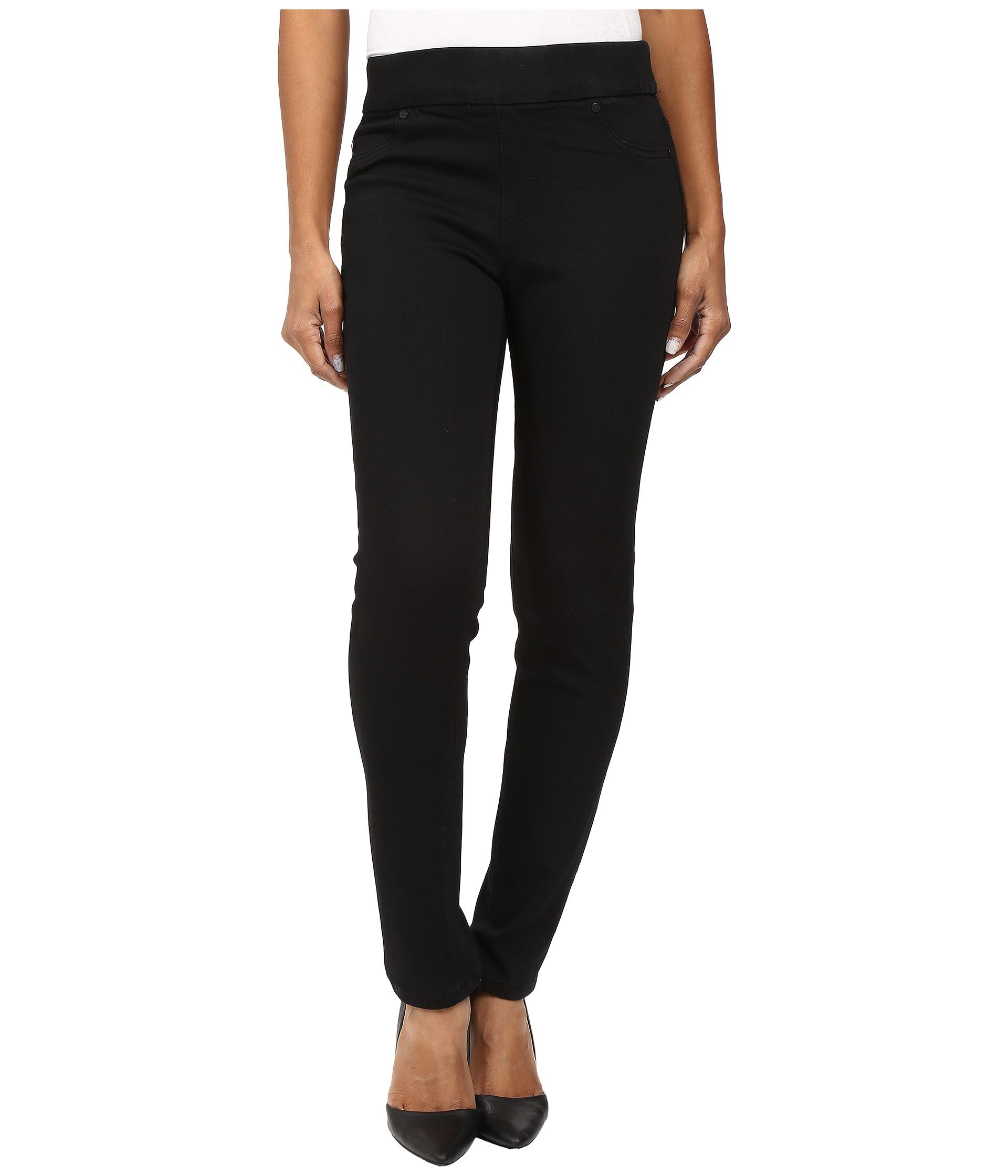 Liverpool jeans company Sadie Straight In Black Rinse in Black | Lyst