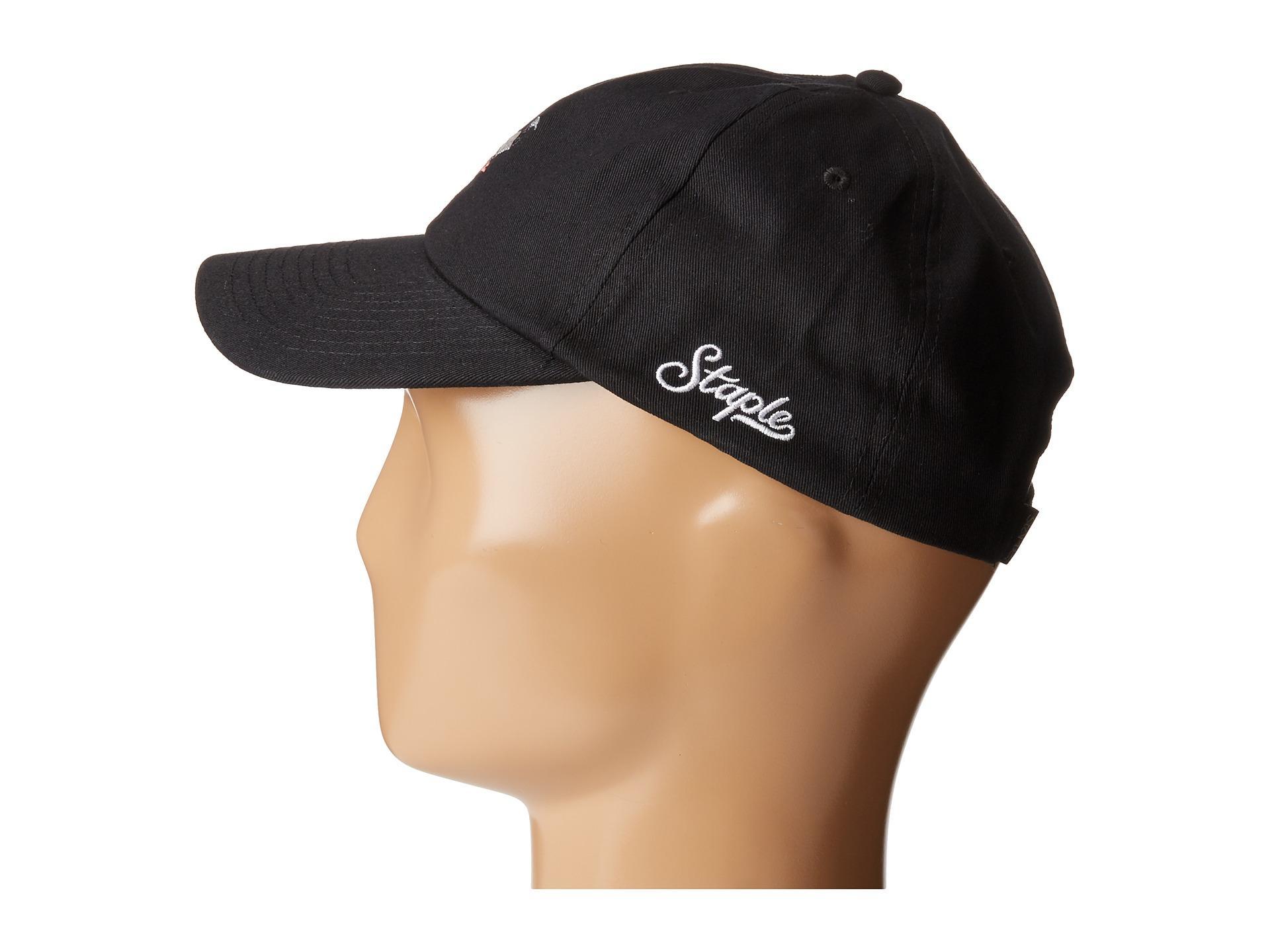 Lyst - Staple Pigeon Script Twill Cap in Black for Men 82ab666e57c8