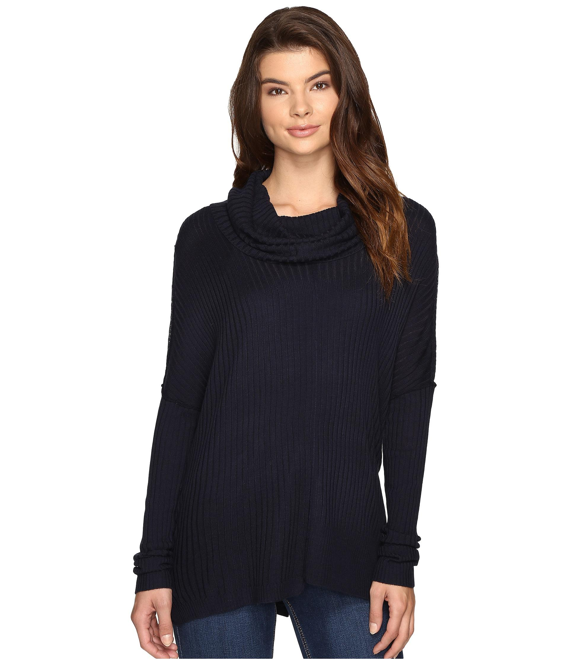 Brigitte bailey Algelie Cowl Neck Ribbed Sweater in Blue - Save 51 ...
