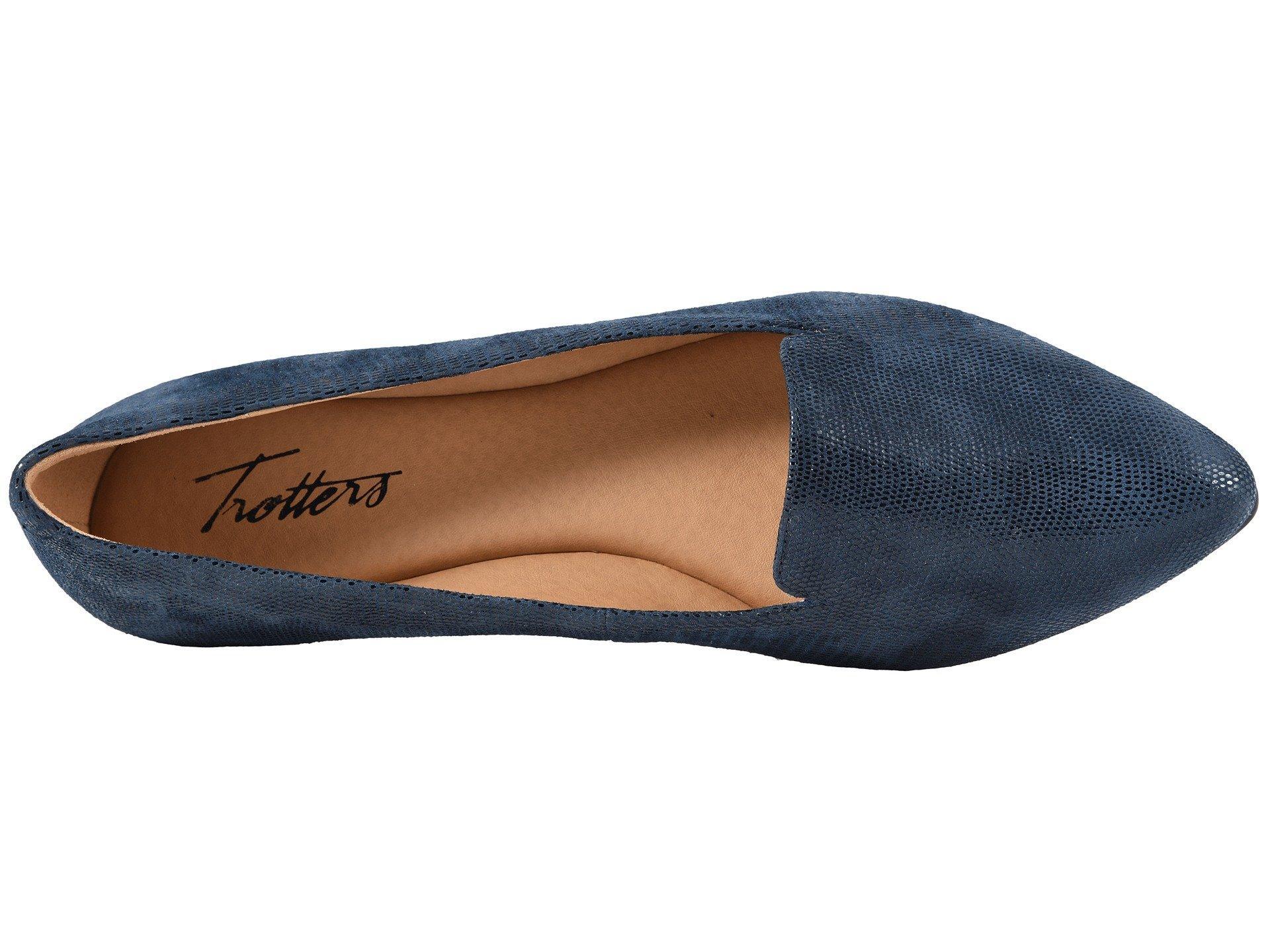 e2eddd5d81b Lyst - Trotters Harlowe (black 1) Women s Flat Shoes in Blue
