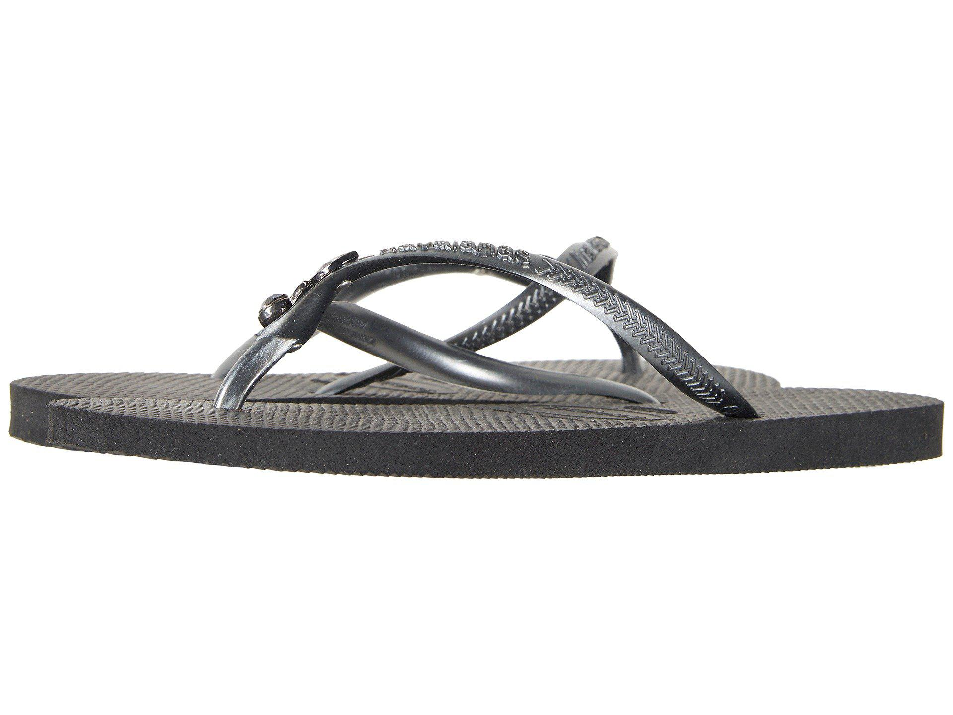 098bfbb5b Lyst - Havaianas Slim Lux Sw Flip Flops in Black