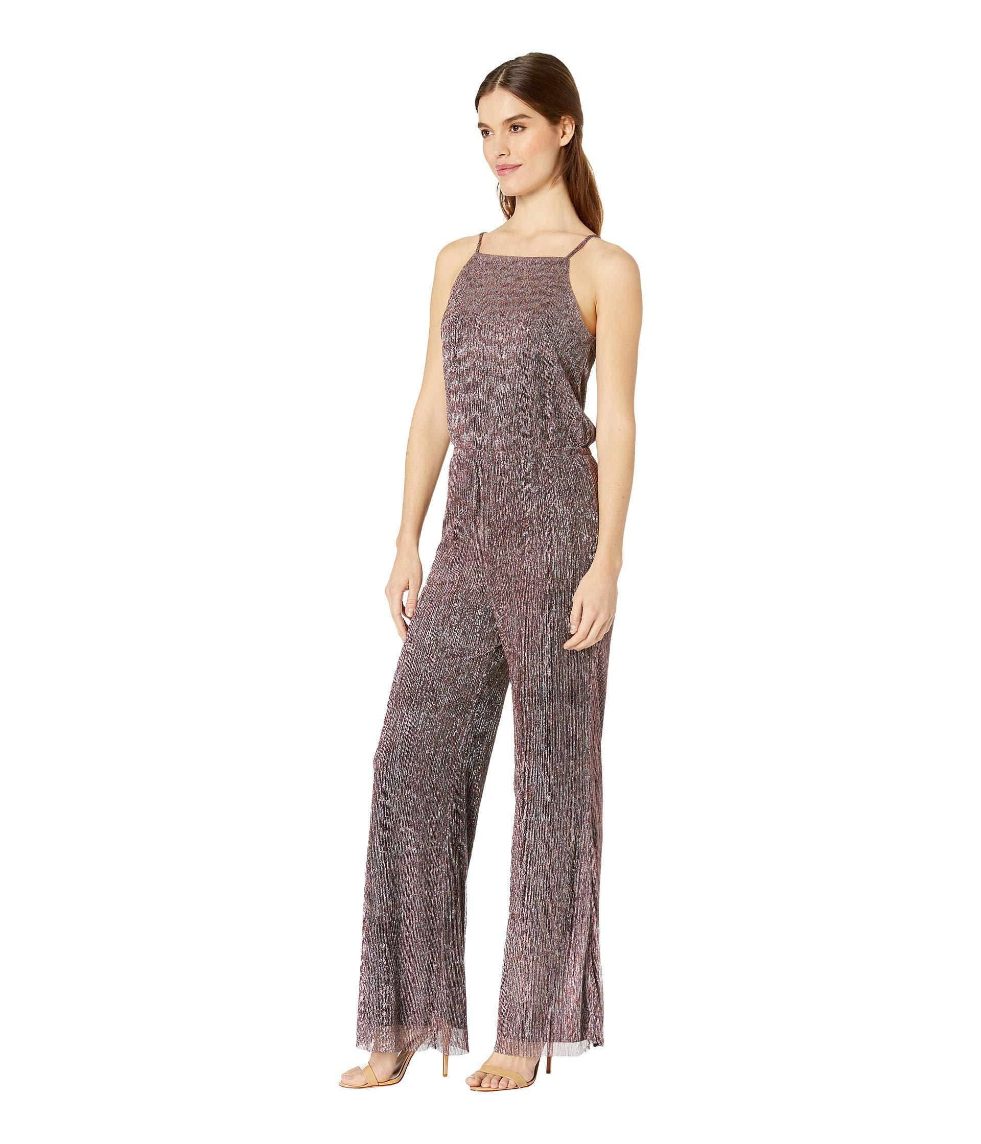 632101d6de13 Lyst - Cupcakes And Cashmere Campell Metallic Shimmer Jumpsuit (purple  Metallic) Women s Jumpsuit   Rompers One Piece in Purple