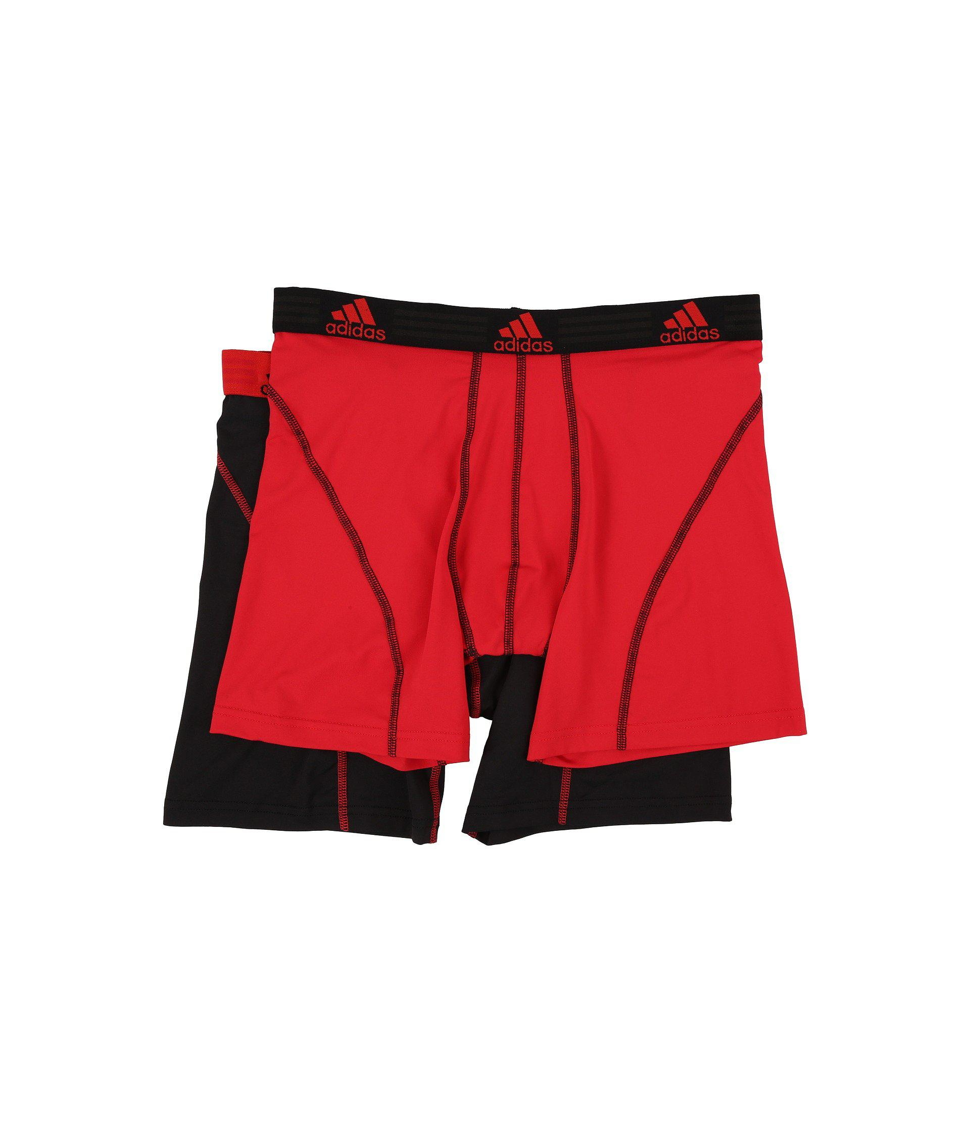04dfb8e46160 Adidas - Red Sport Performance Climalite 2-pack Boxer Brief (black black .  View fullscreen