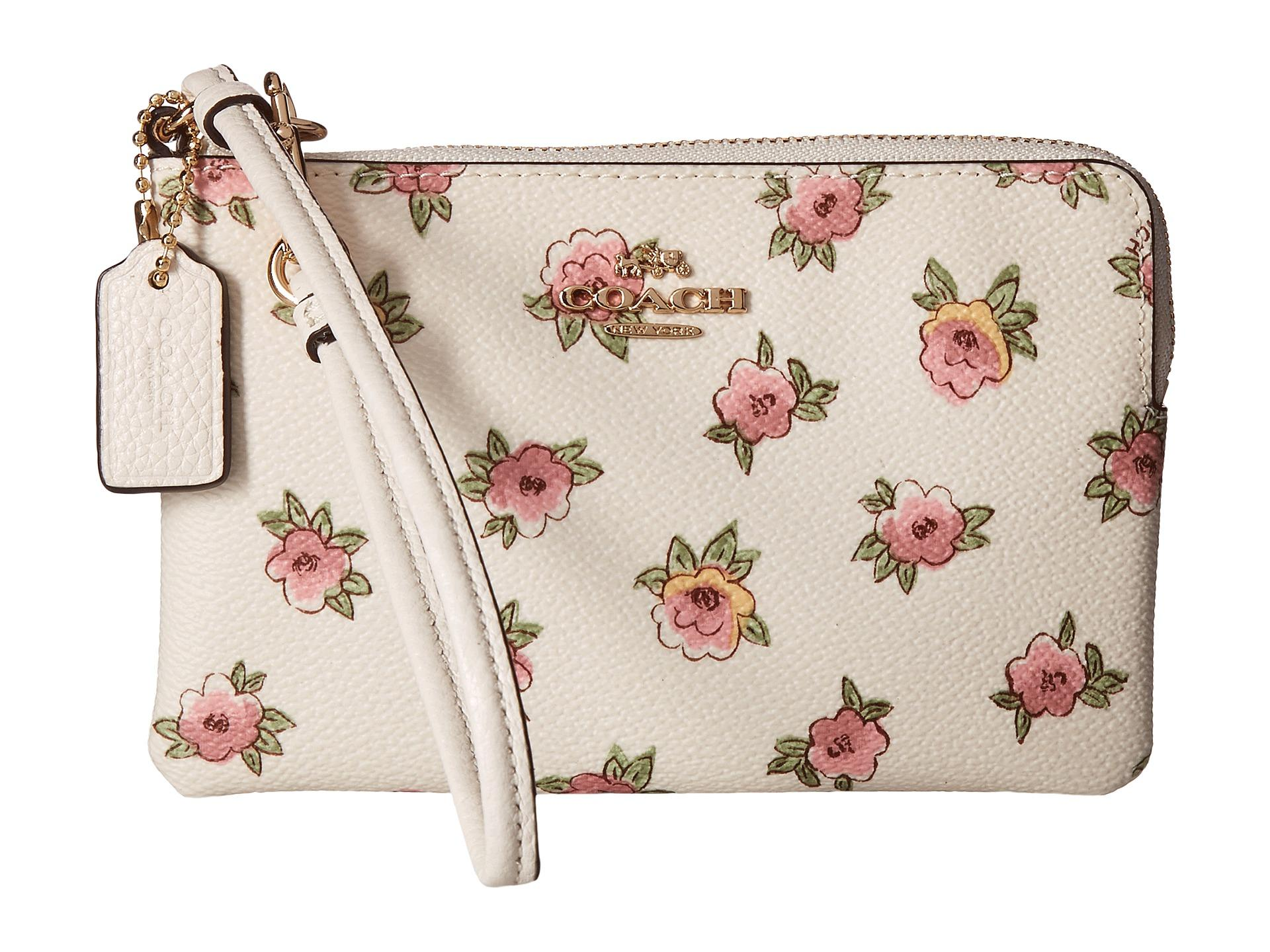 Lyst Coach Flower Patch Small Wristlet