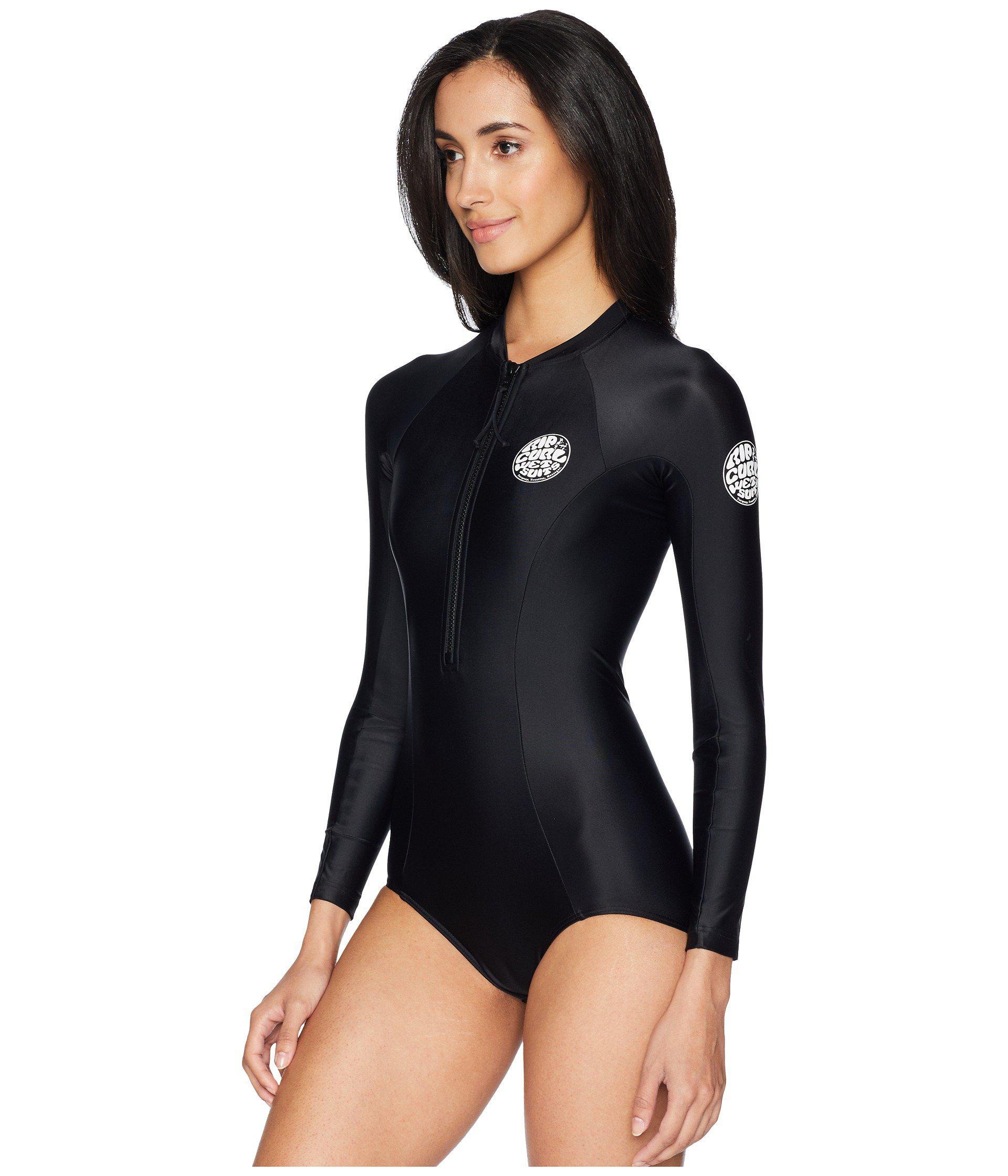 b24345b523 Lyst - Rip Curl G Bomb Long Sleeve Uv Surfsuit (black) Women s Wetsuits One  Piece in Black
