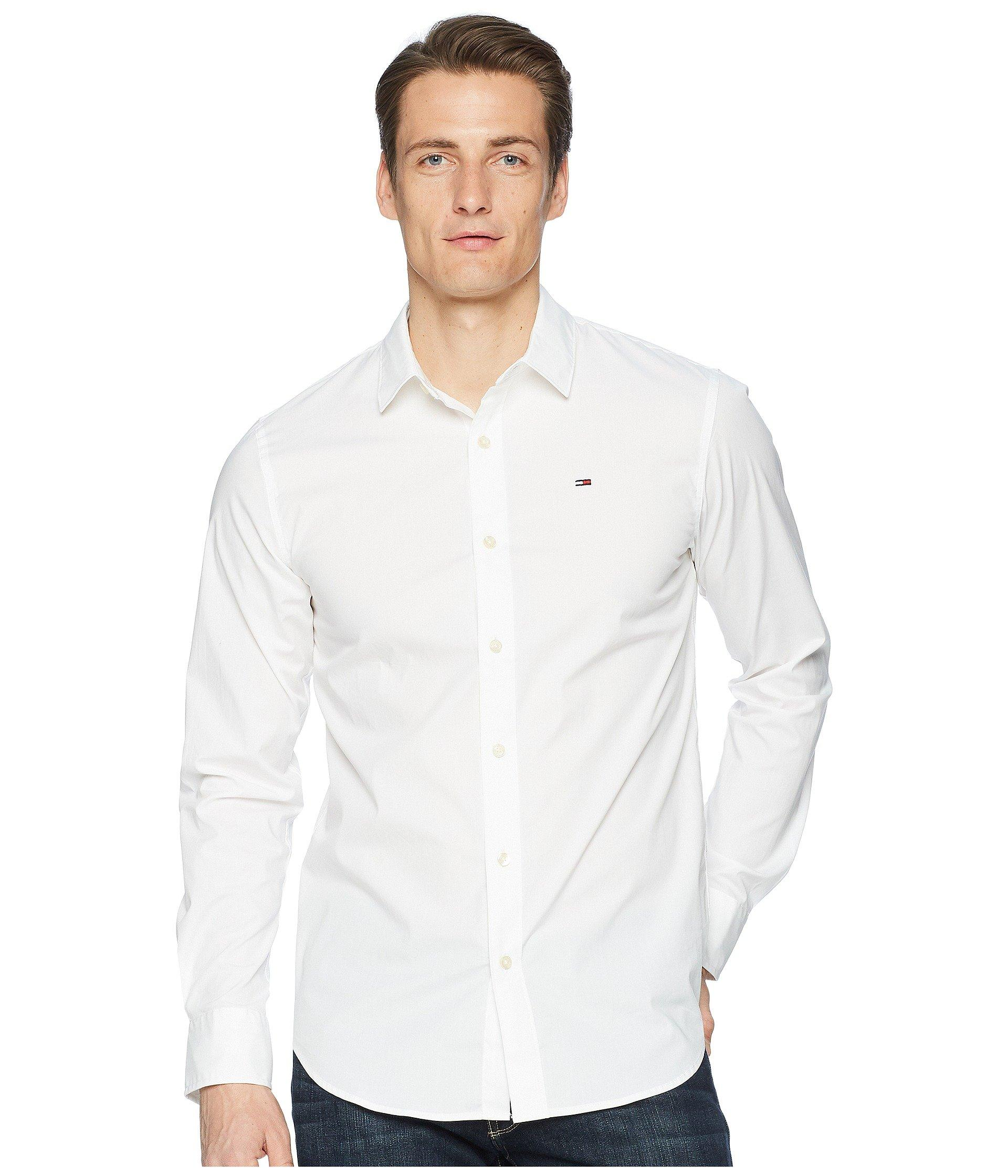 71073c9fab3 Lyst - Tommy Hilfiger Stretch Long Sleeve Button Down Shirt (black ...