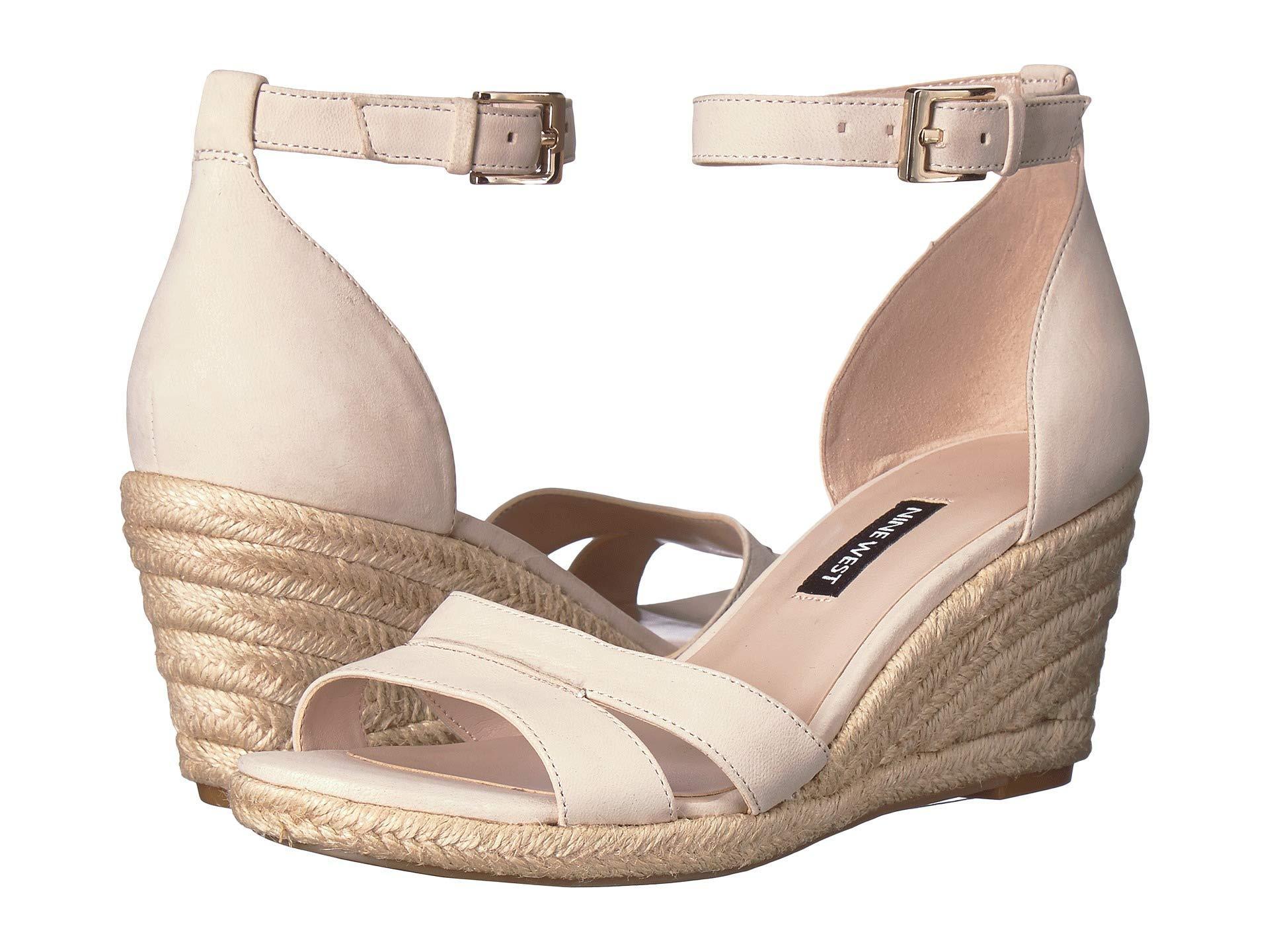 bb27c5776d4 Nine West. Metallic Jabrina Espadrille Wedge Sandal (black) Women s Shoes