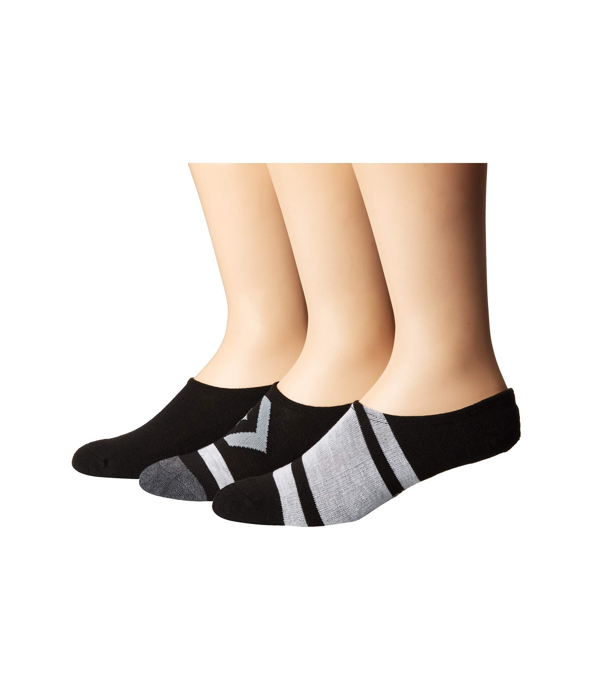 4e1dca26bb6e Converse. Black 3-pack Sport Mix Made For Chuck (blue Assorted) Men s Low  Cut Socks Shoes