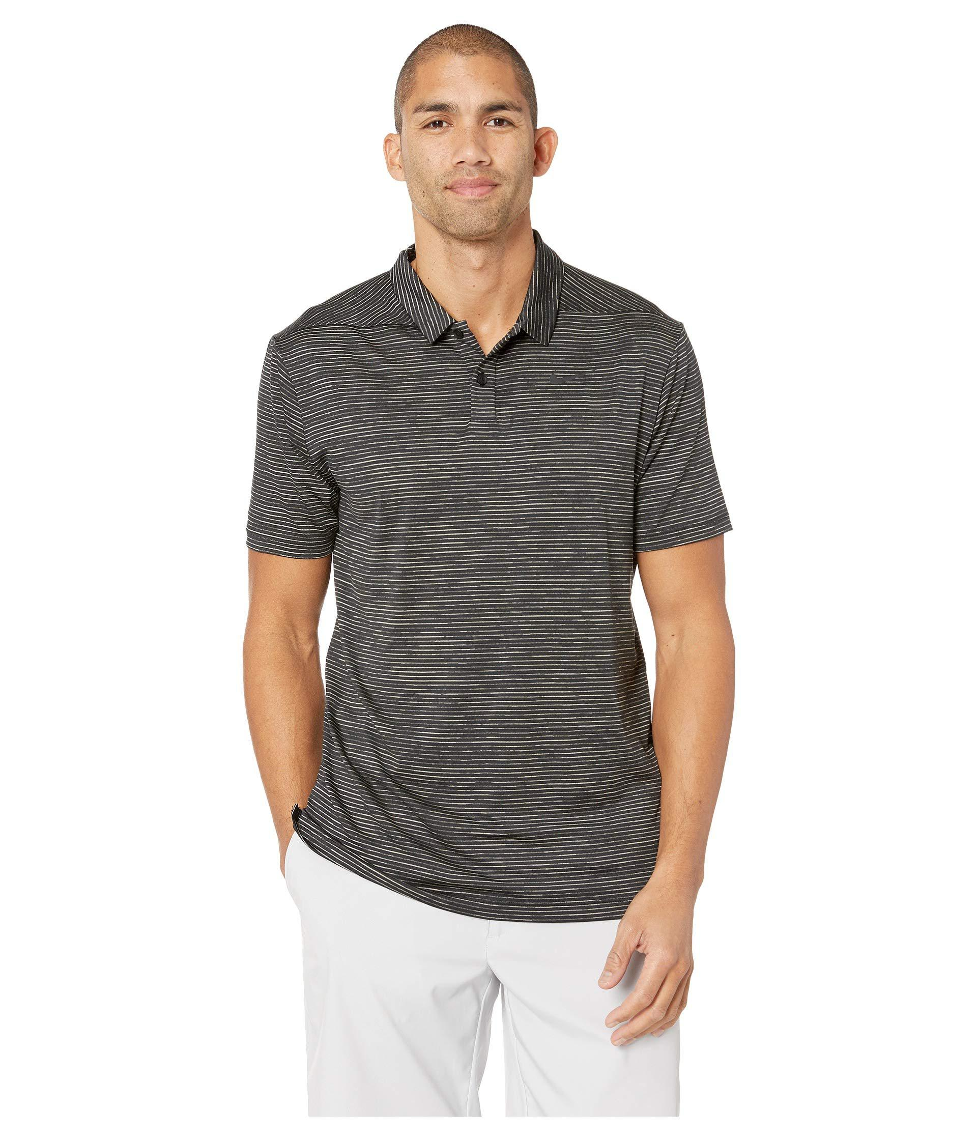 b41745c8 Lyst - Nike Dry Polo Stripe (black/black) Men's Short Sleeve Knit in ...