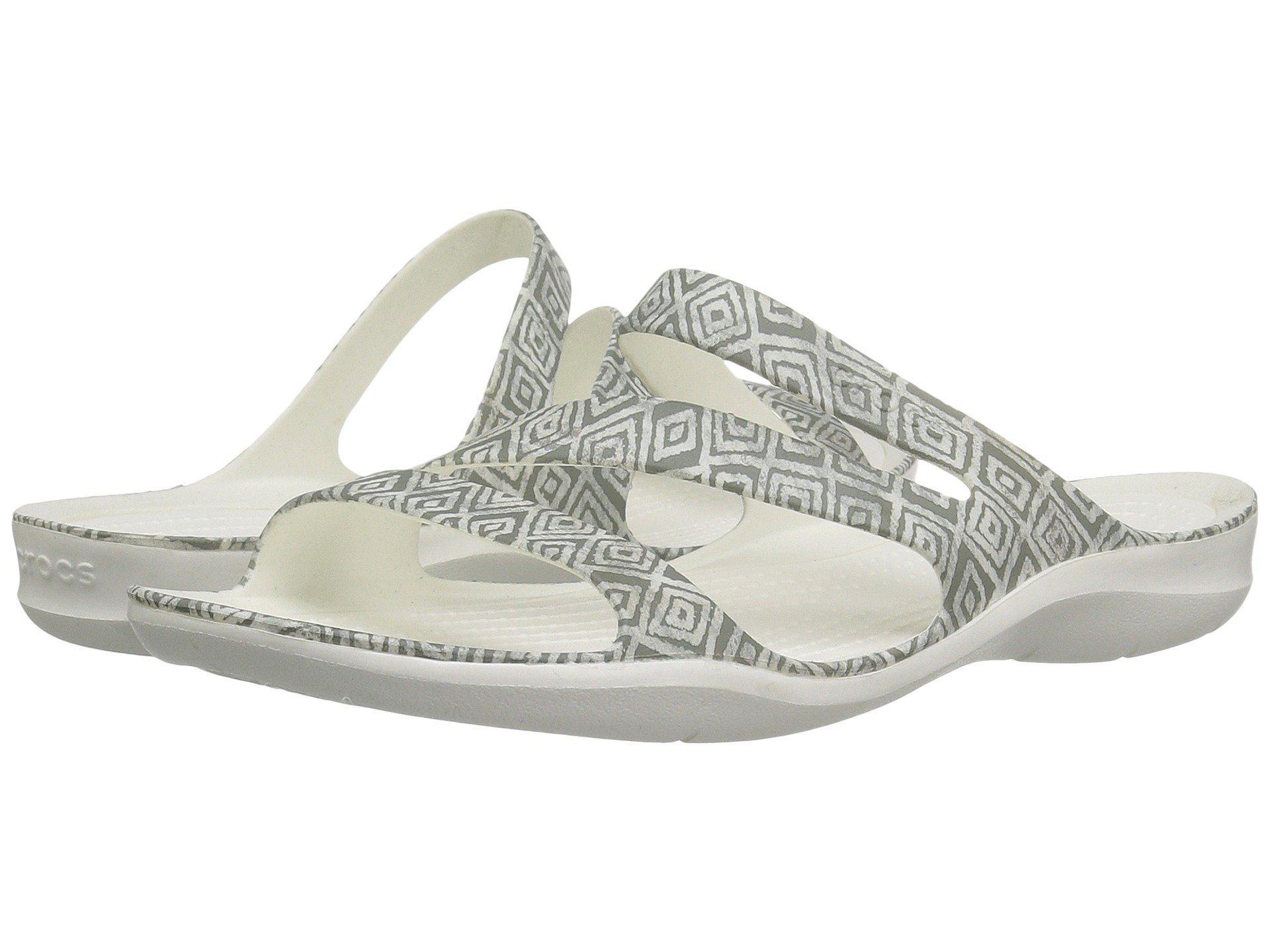 9e5d32a35d5a Lyst - Crocs™ Swiftwater Graphic Sandal (dots) Women s Sandals in Gray