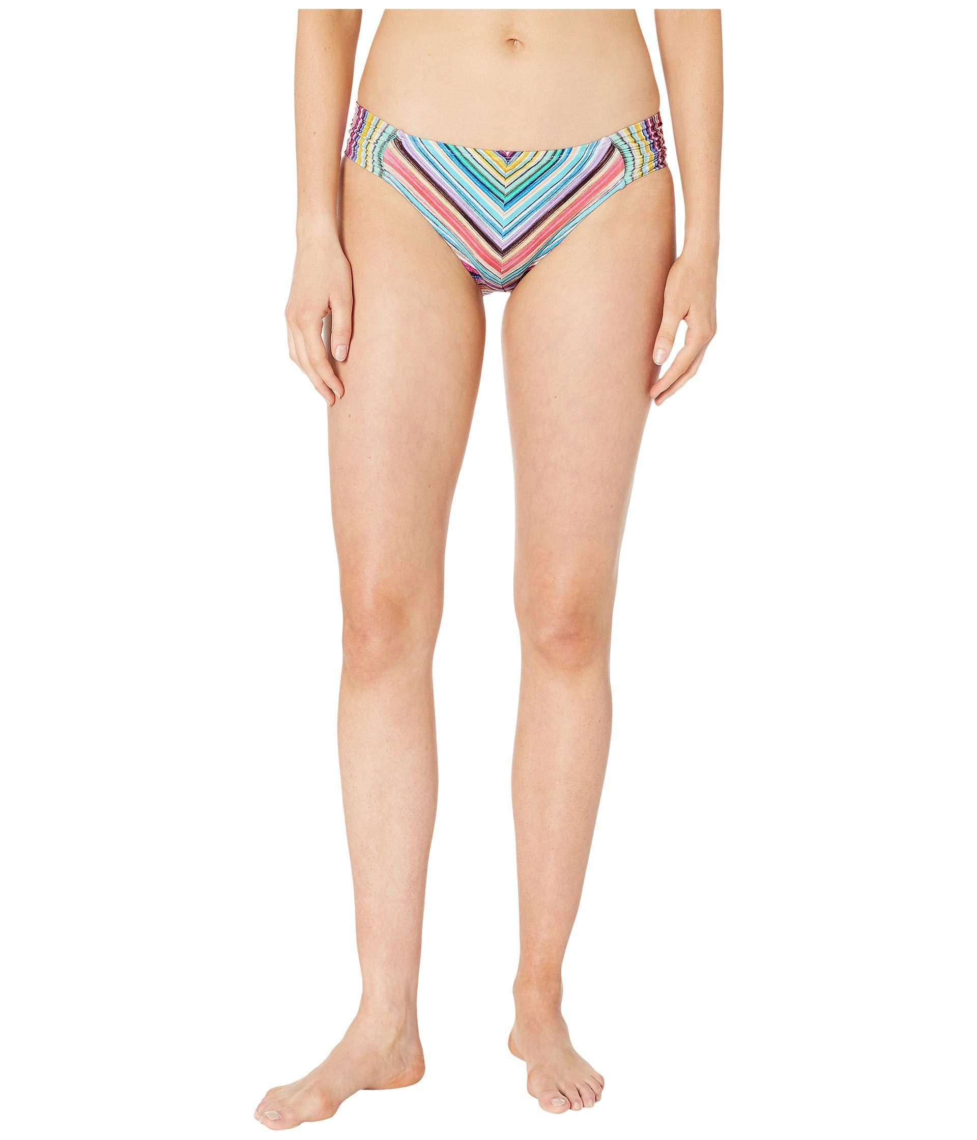 4645ba99bfa La Blanca. Blue Tahitian Stripe Mitered Side Shirred Hipster Bottoms  (multi) Women s Swimwear