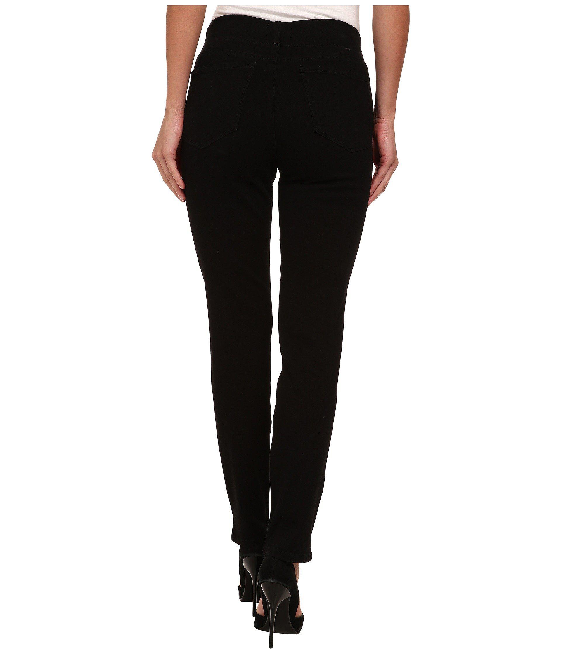 4b7b5781361 NYDJ - Alina Pull On Ankle In Black (black) Women s Jeans - Lyst. View  fullscreen