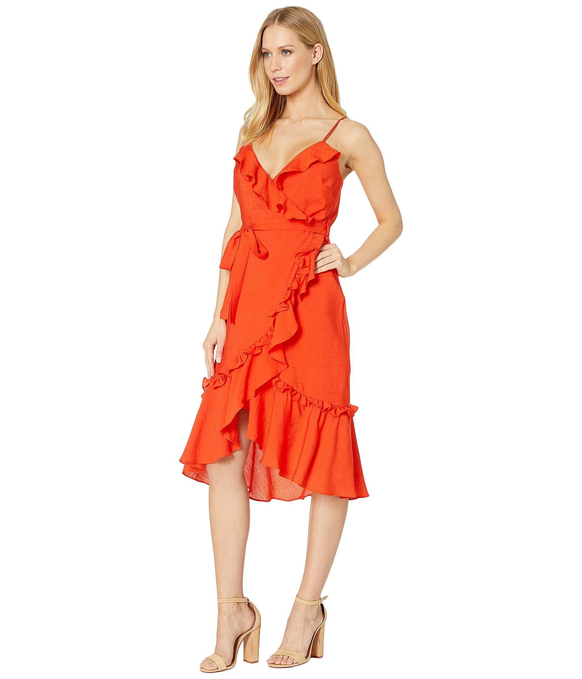 d1e7e5c20c74 Lyst - Bardot Zoe Wrap Dress (flame Orange) Women's Dress in Orange